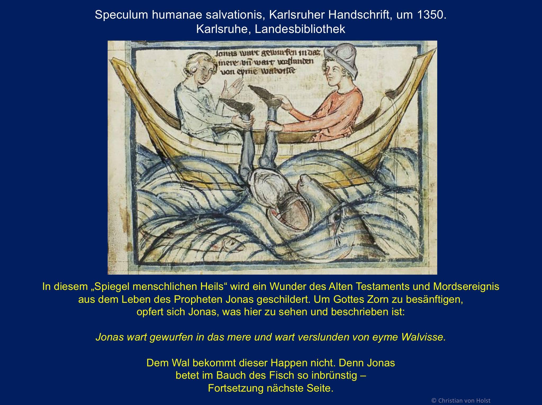 um 1350 Jona wird vom Wal verschlungen