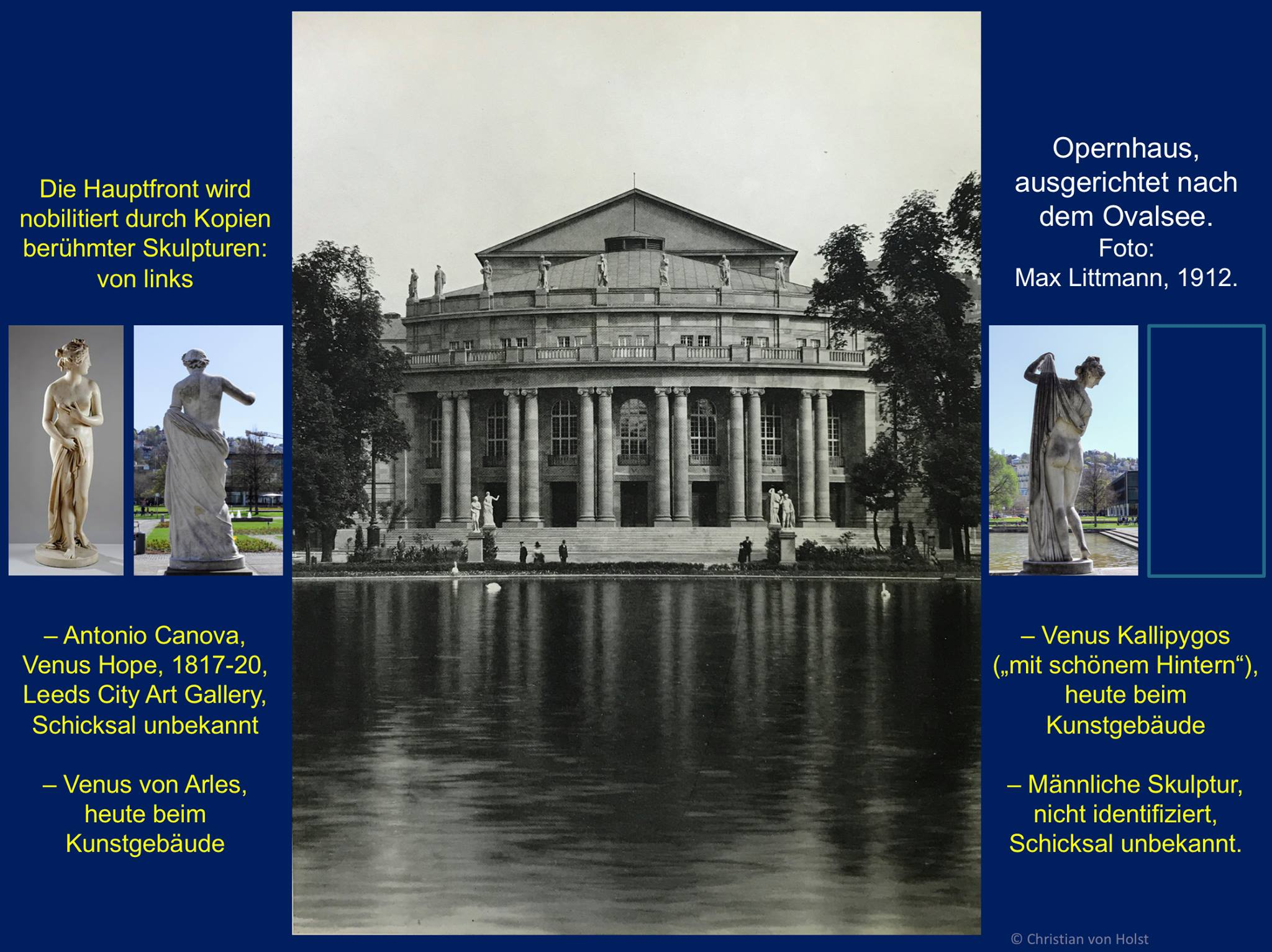 Opernhaus Gartenfront 1912