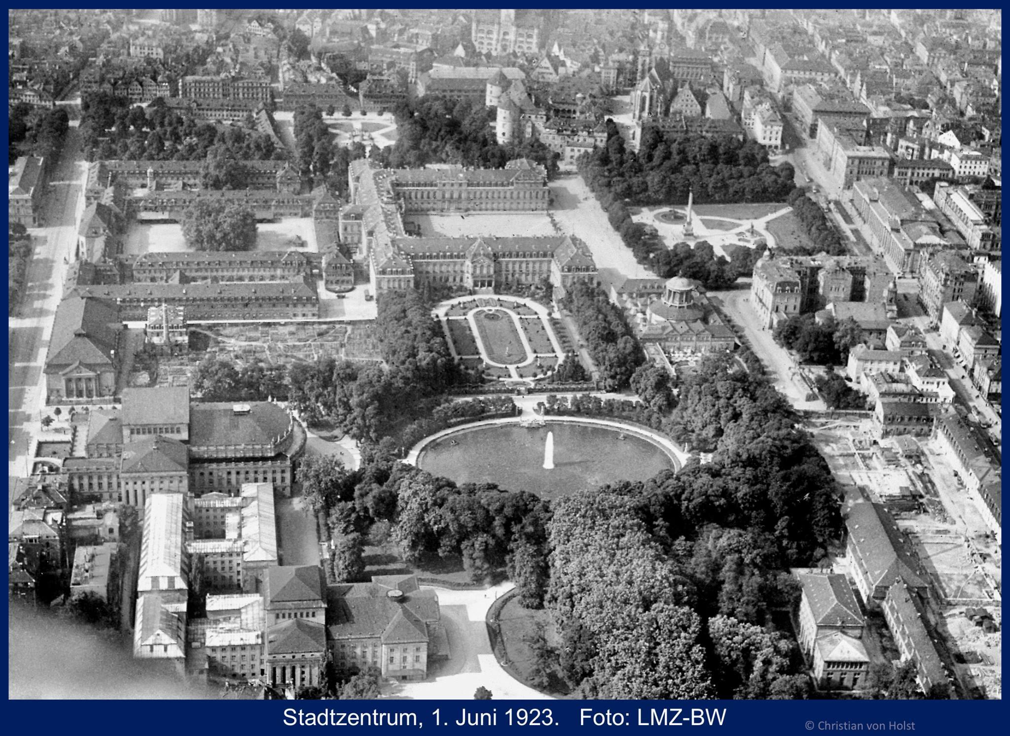 Ovalsee: Nikolaus Thouret, 1850-1941 – Luftbild 1923 Thourets Stadtstruktur complete erhalten
