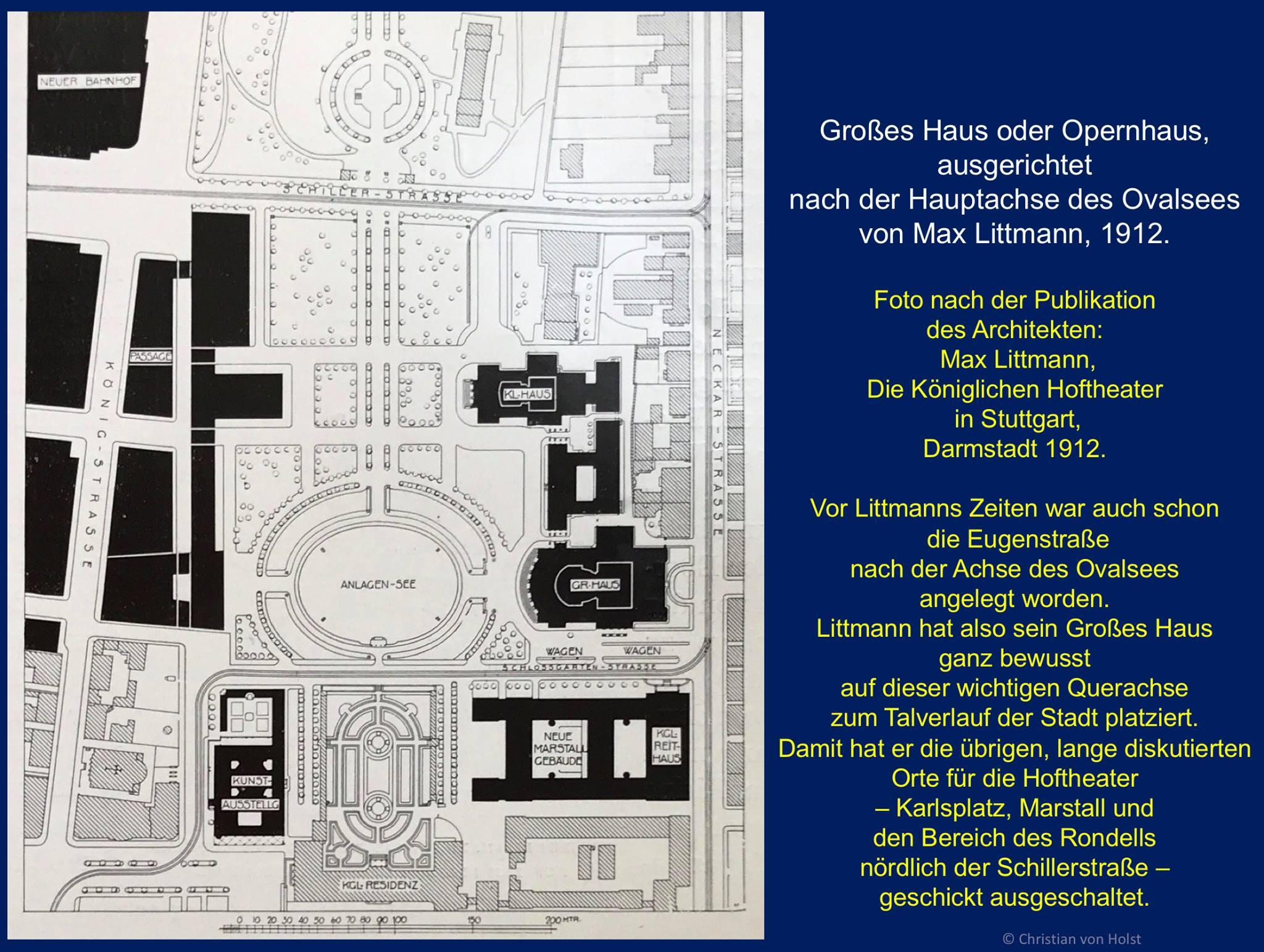 Max Littmanns Pläne von 1912 u. a. für Ersatz des Marstalls