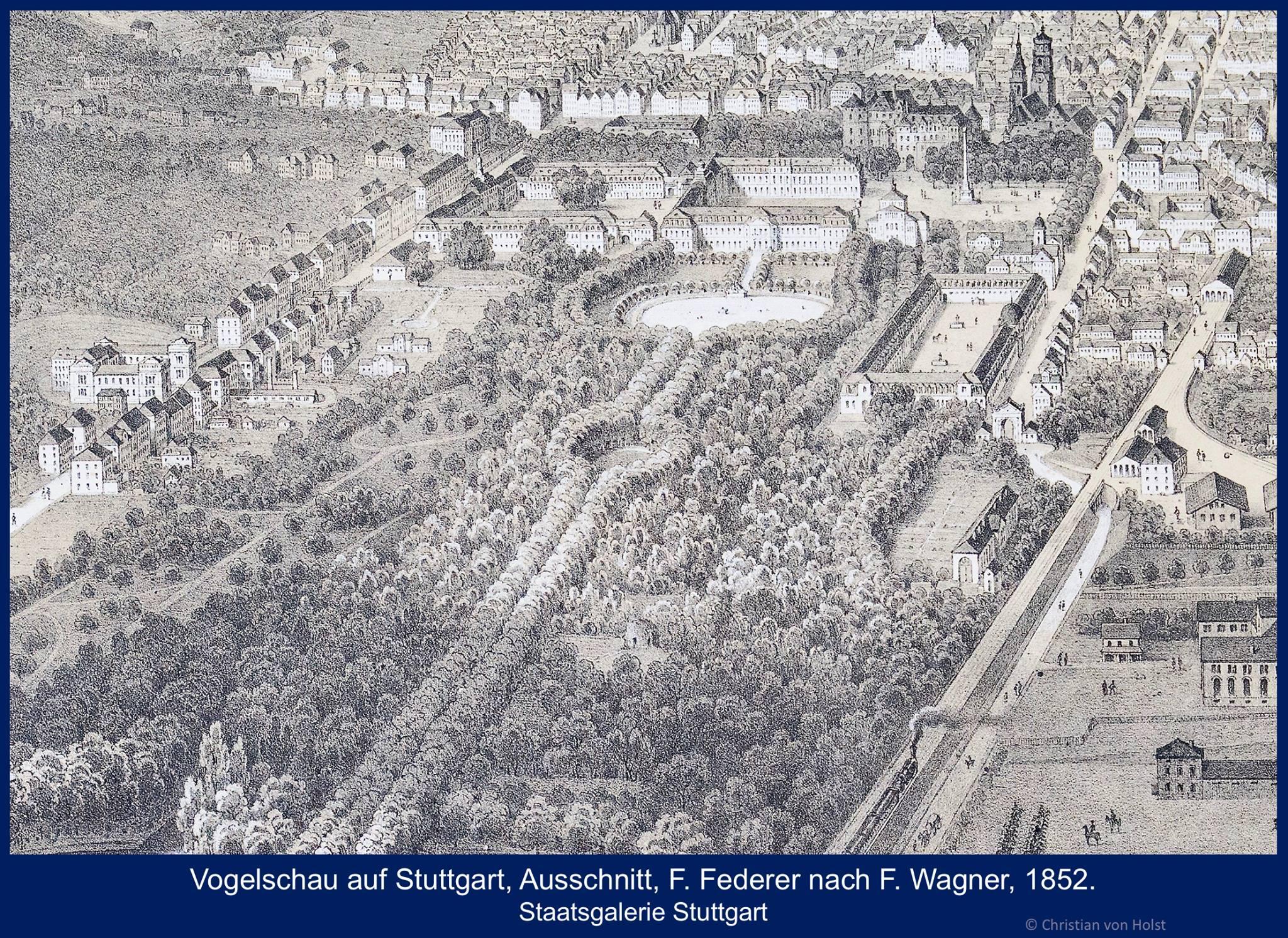 Ovalsee: Nikolaus Thouret, 1850-1941 – Vogelschau 1852