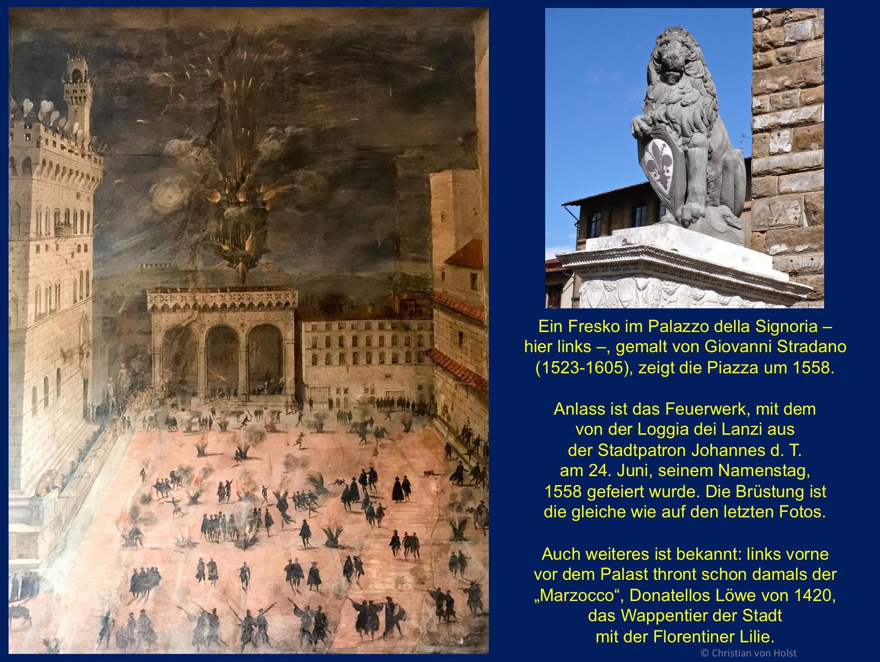 Piazza Signoria vor 1558 Giovanni Stradano