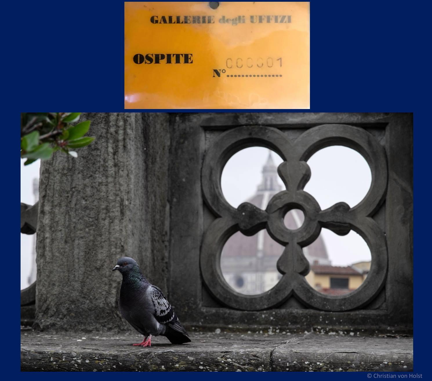 Florenz Blick Loggia dei Lanzi zum Dom
