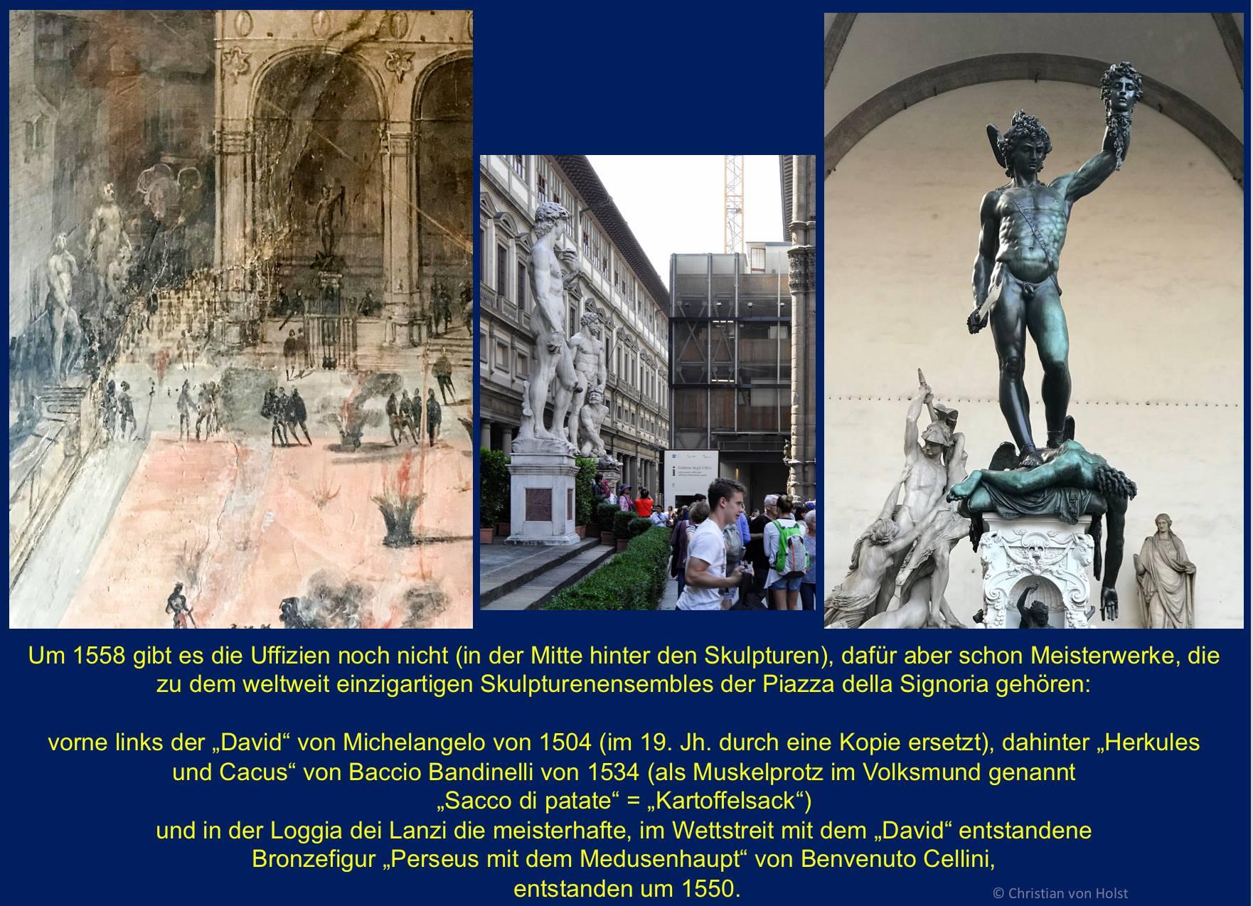 Piazza Signoria und Michelangelos David und Perseus