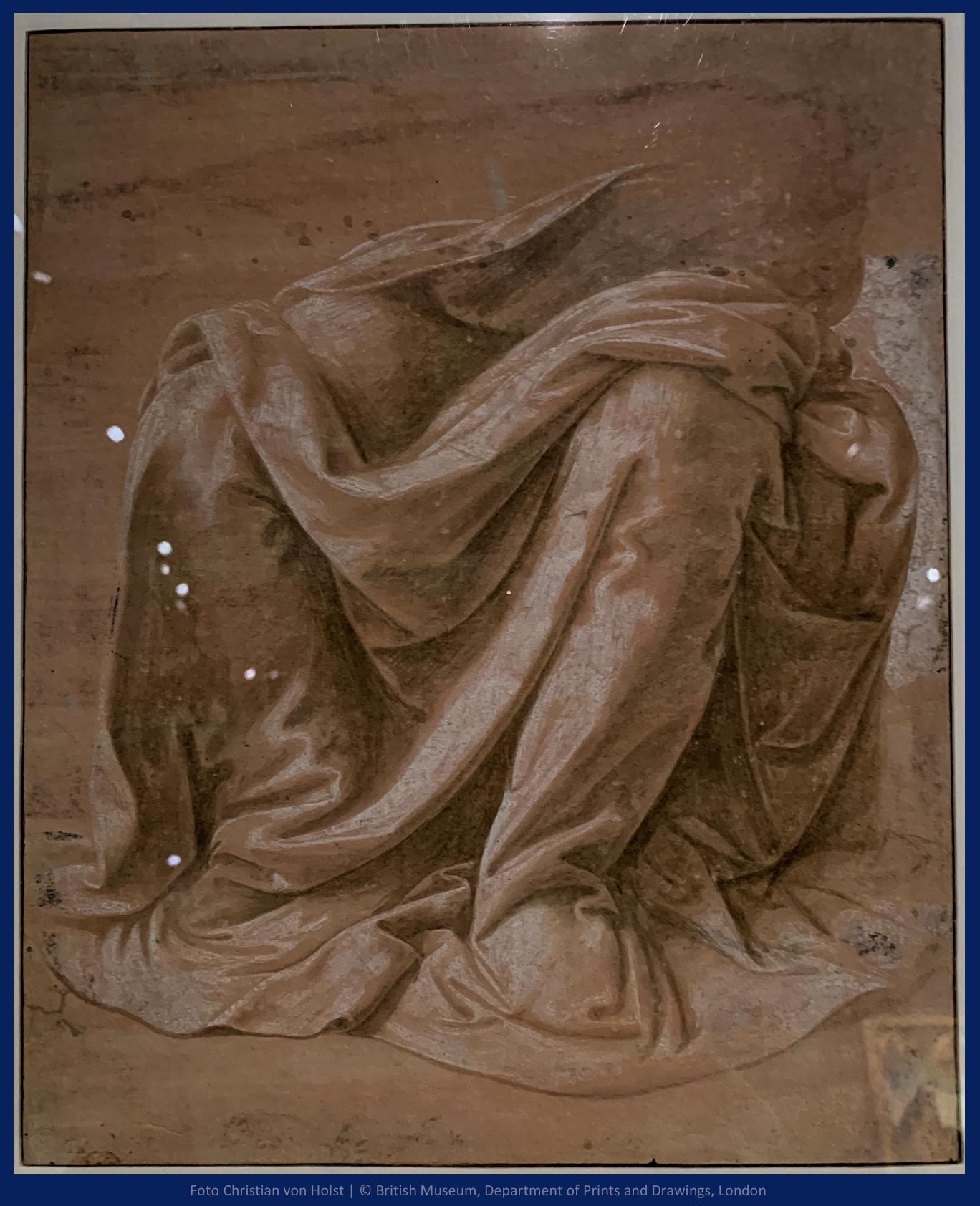 Lorenzo di Credi Gewandstudie British Museum