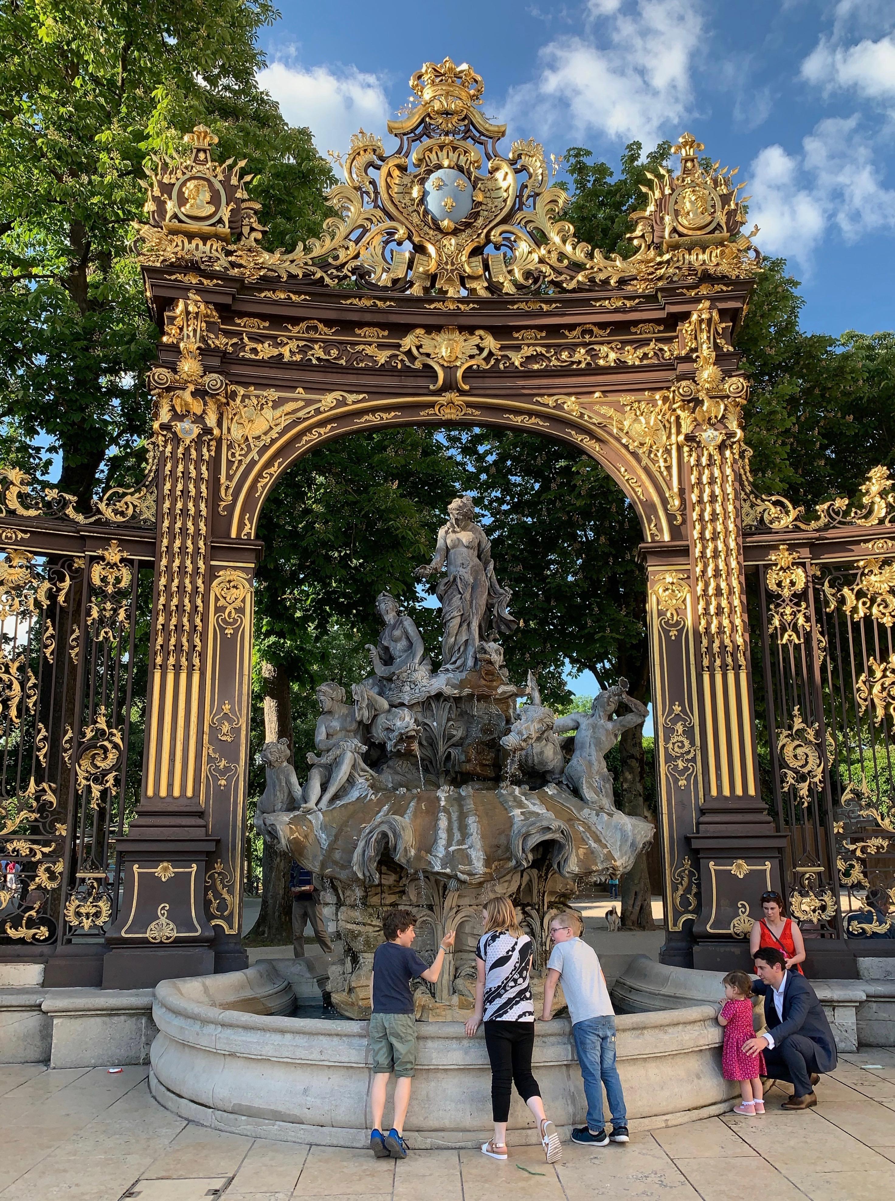 Nancy als Zwischenstation – Amphitrite-Brunnen