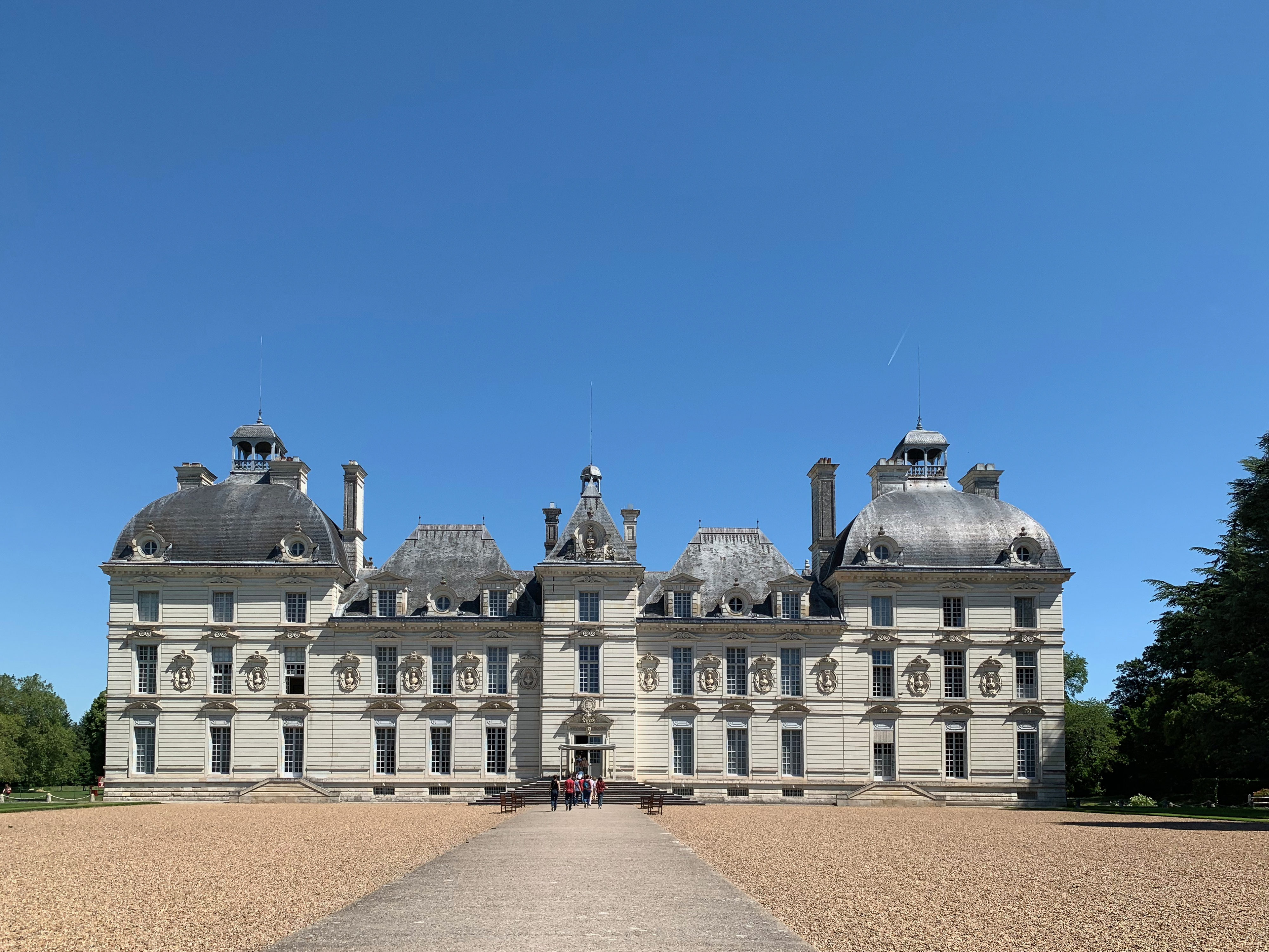 Château de Cheverny – ein Prachtbau Hauptfront