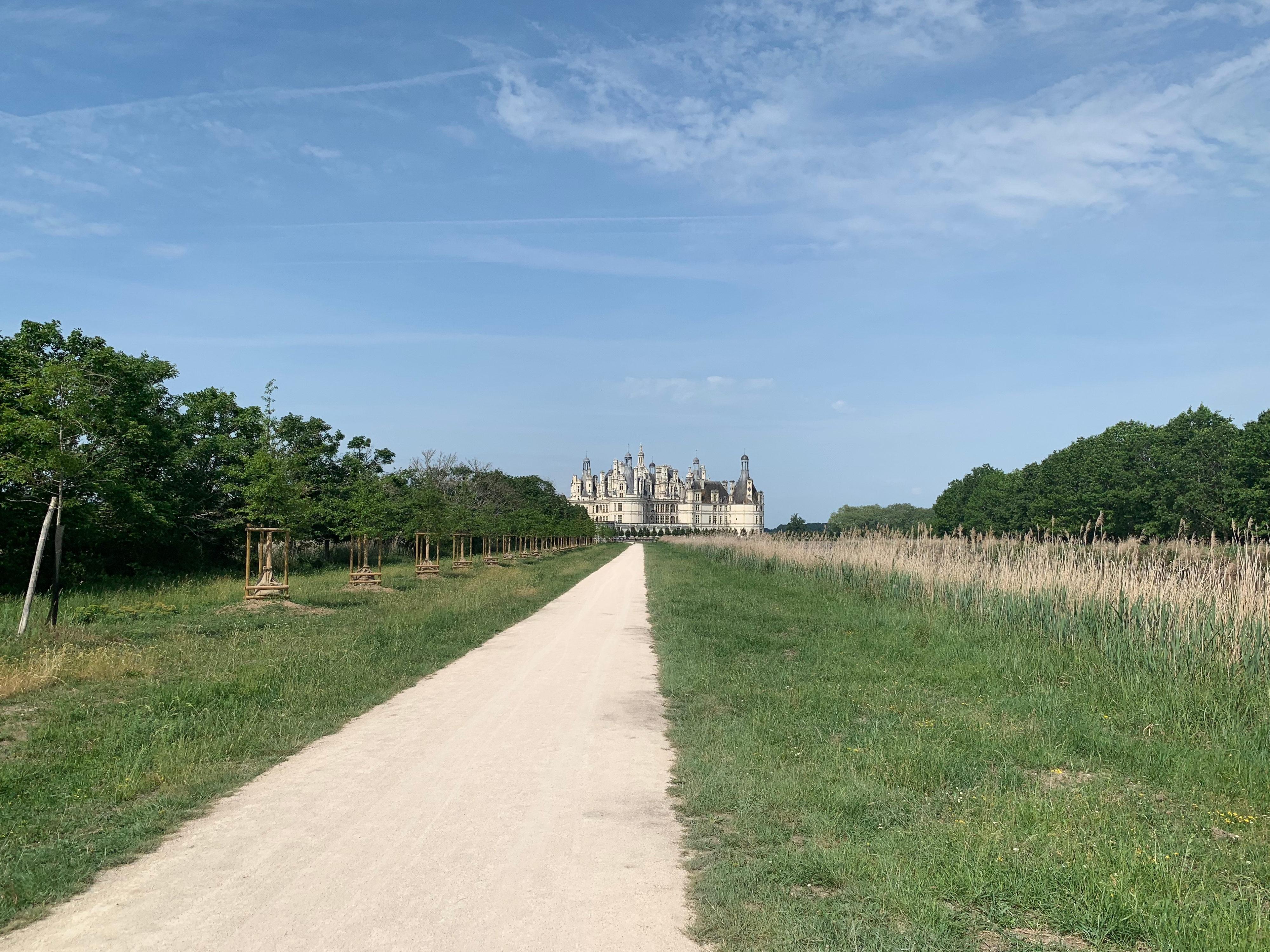 Chambord, das weltweit einmalige Schloss bei größerer Annäherung