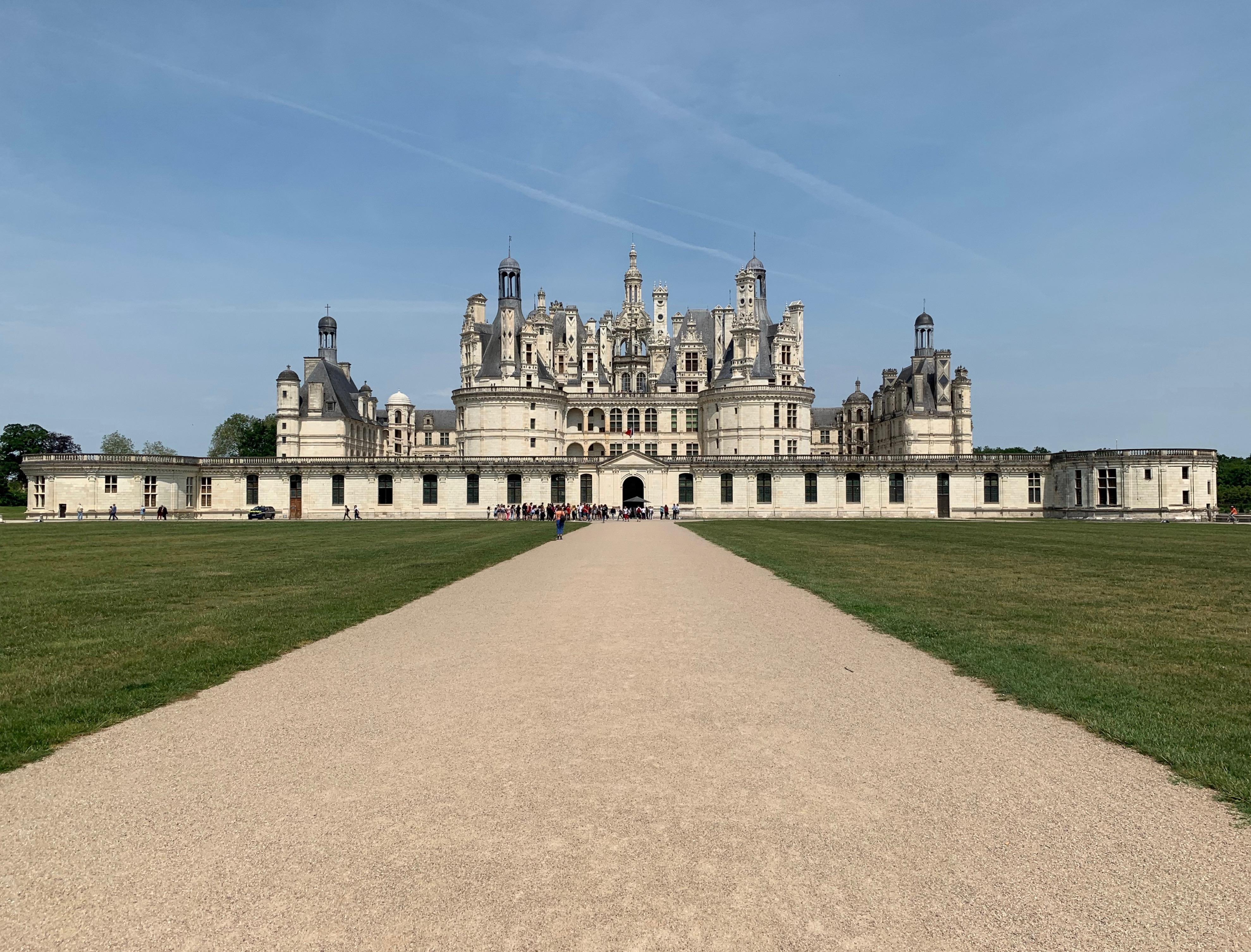 Chambord, das weltweit einmalige Schloss Frontalansicht