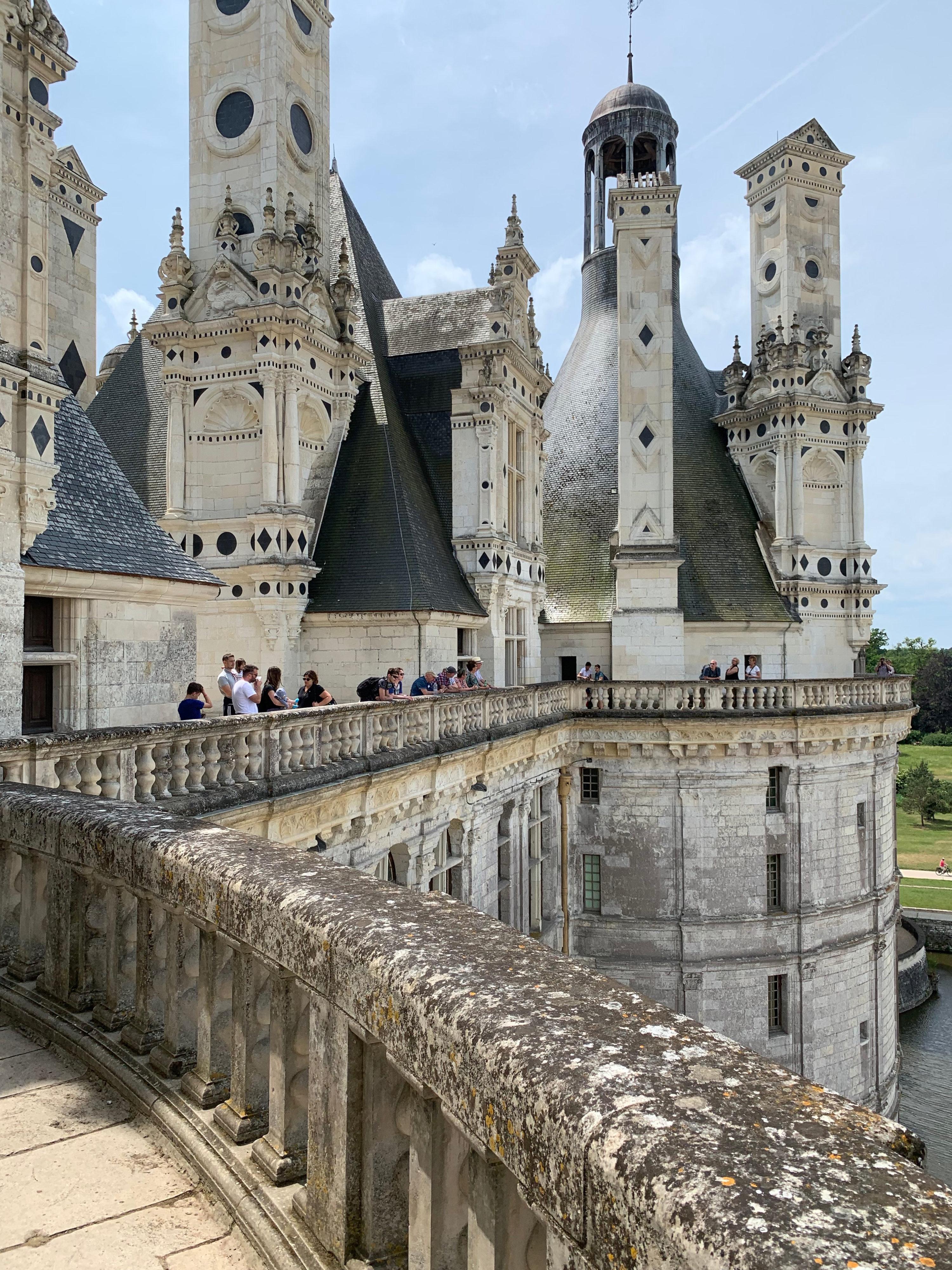 Chambord architektonische Dachlandschaft