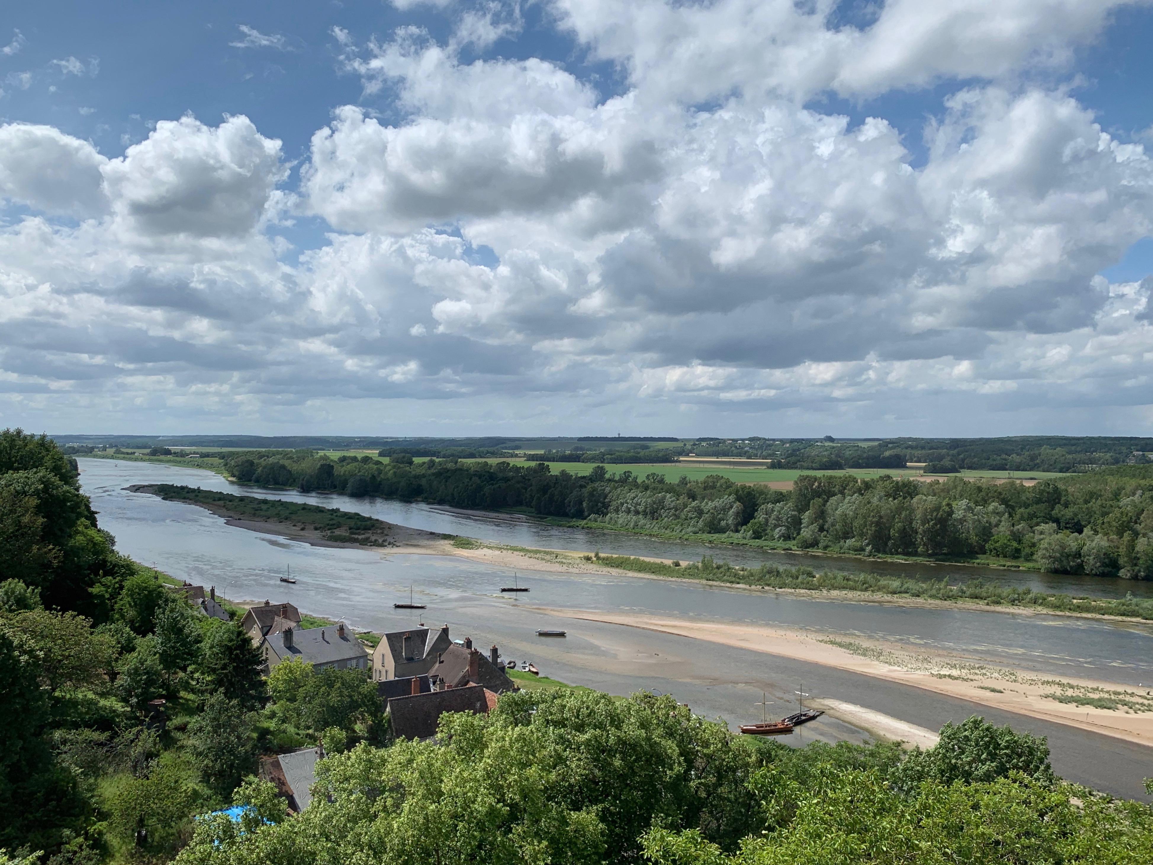 Chaumont-Blick auf die Loire