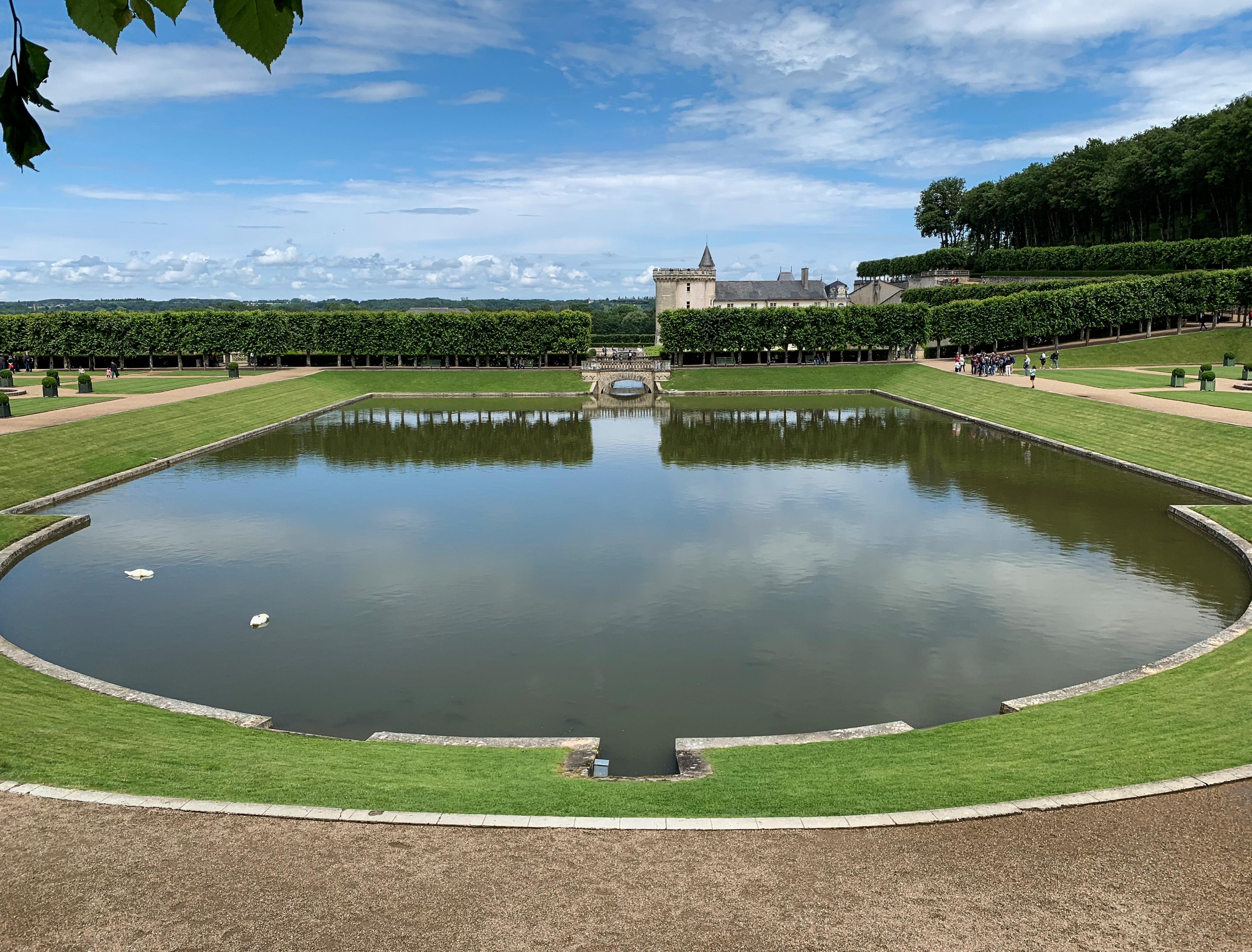 Villandry, eine Art Paradies für Gartenfreunde Wassergarten