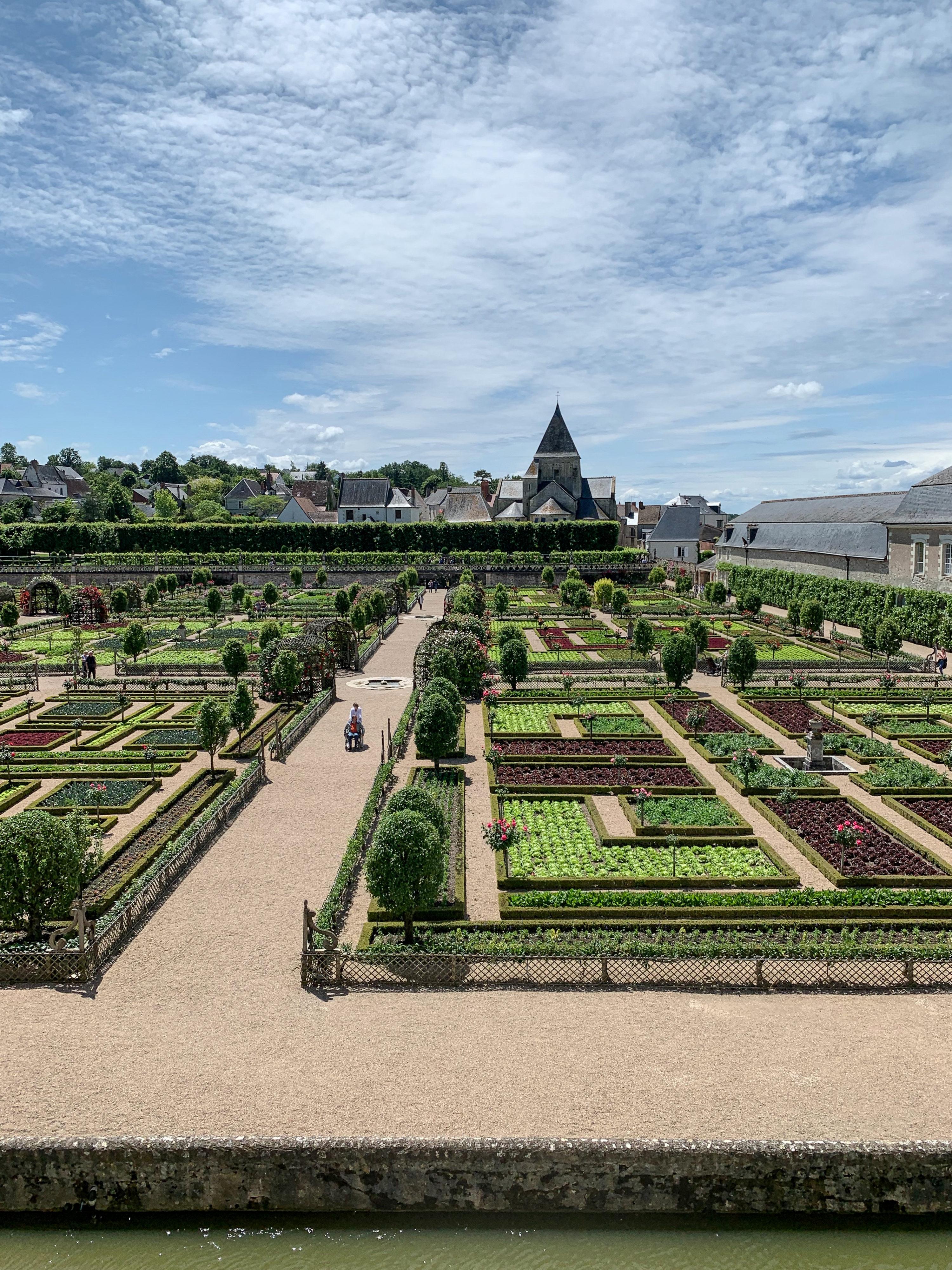 Villandry, eine Art Paradies für Gartenfreunde vom Schloss aus