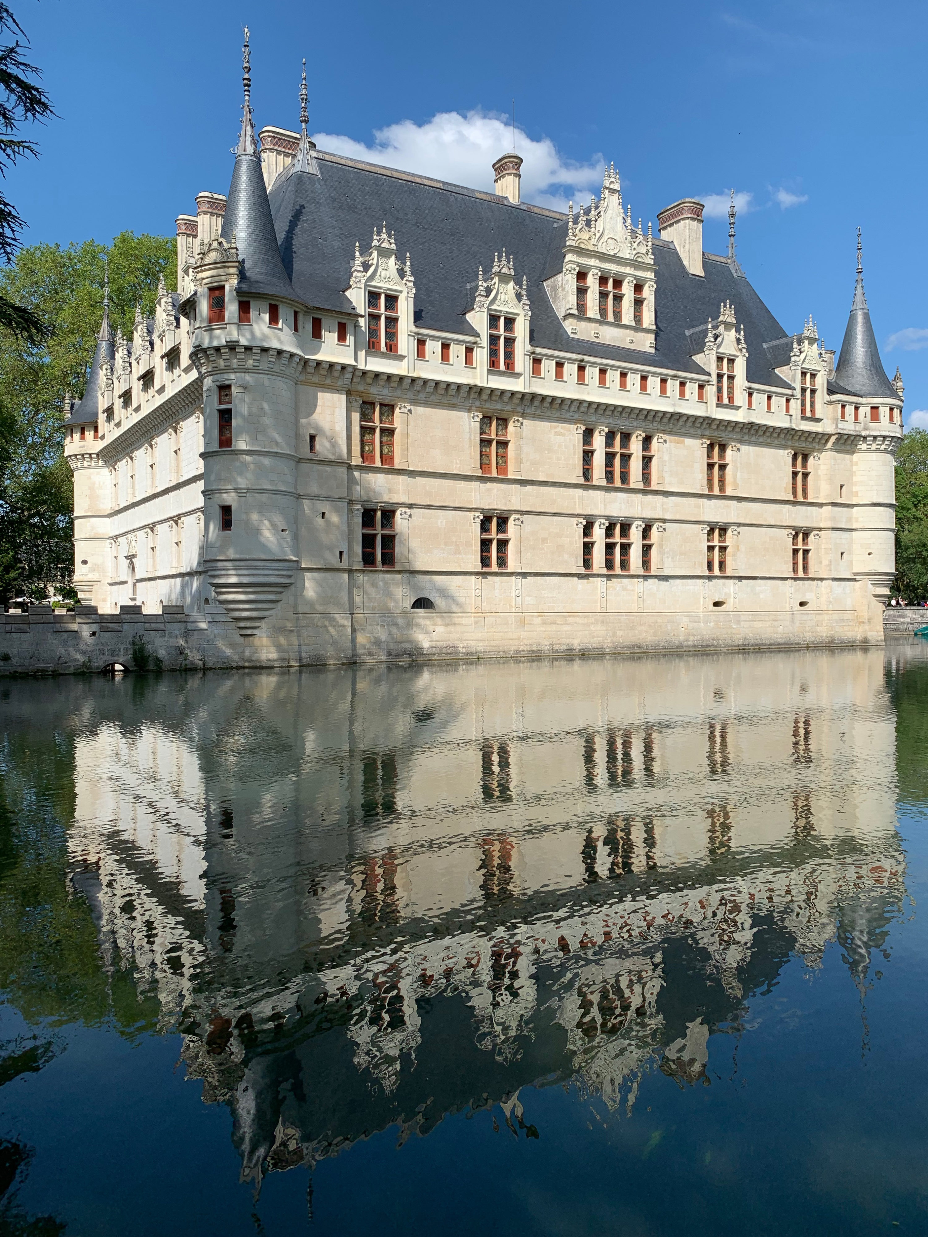 Azay-le-Rideau Spiegeleffekte