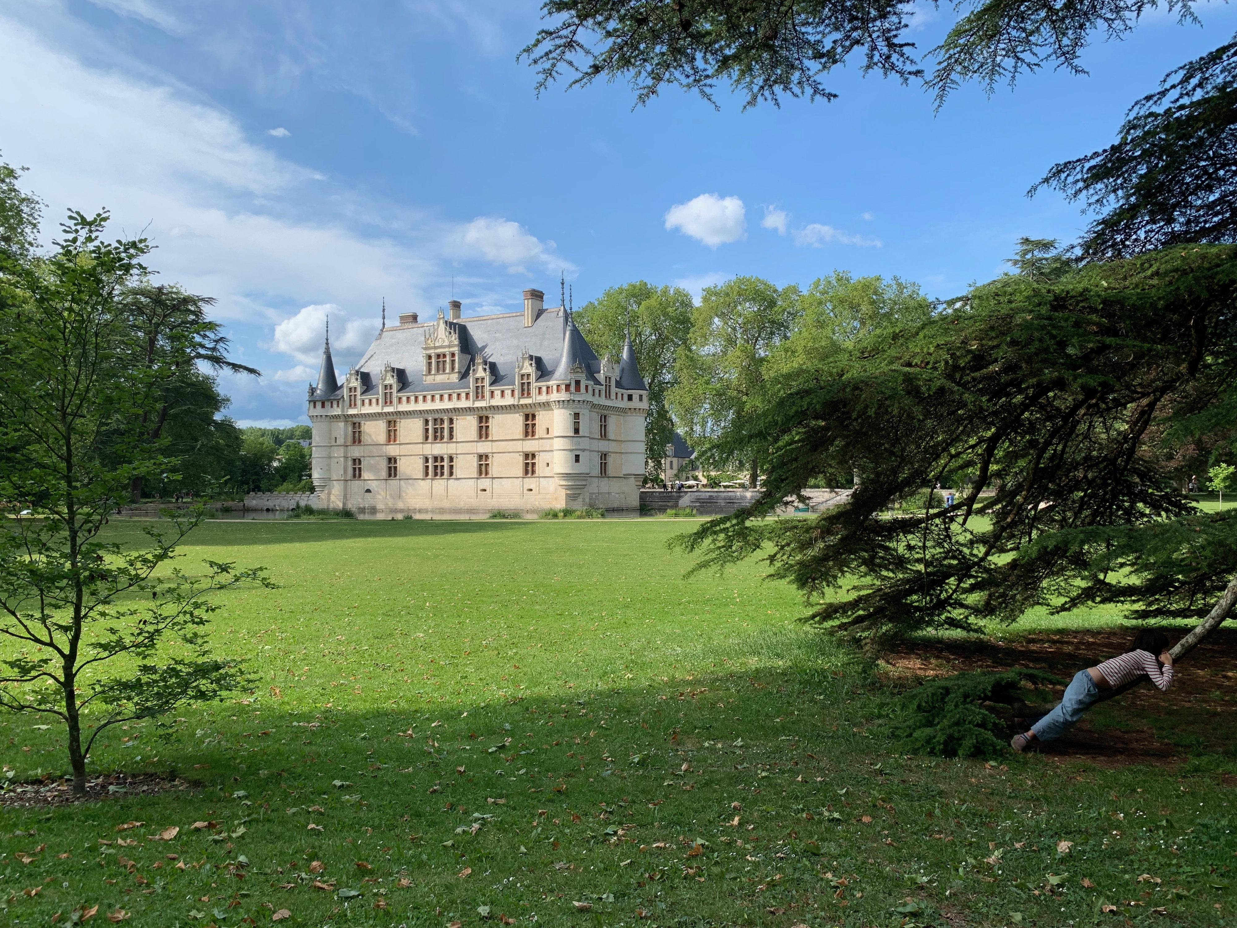 Azay-le-Rideau aus der Ferne
