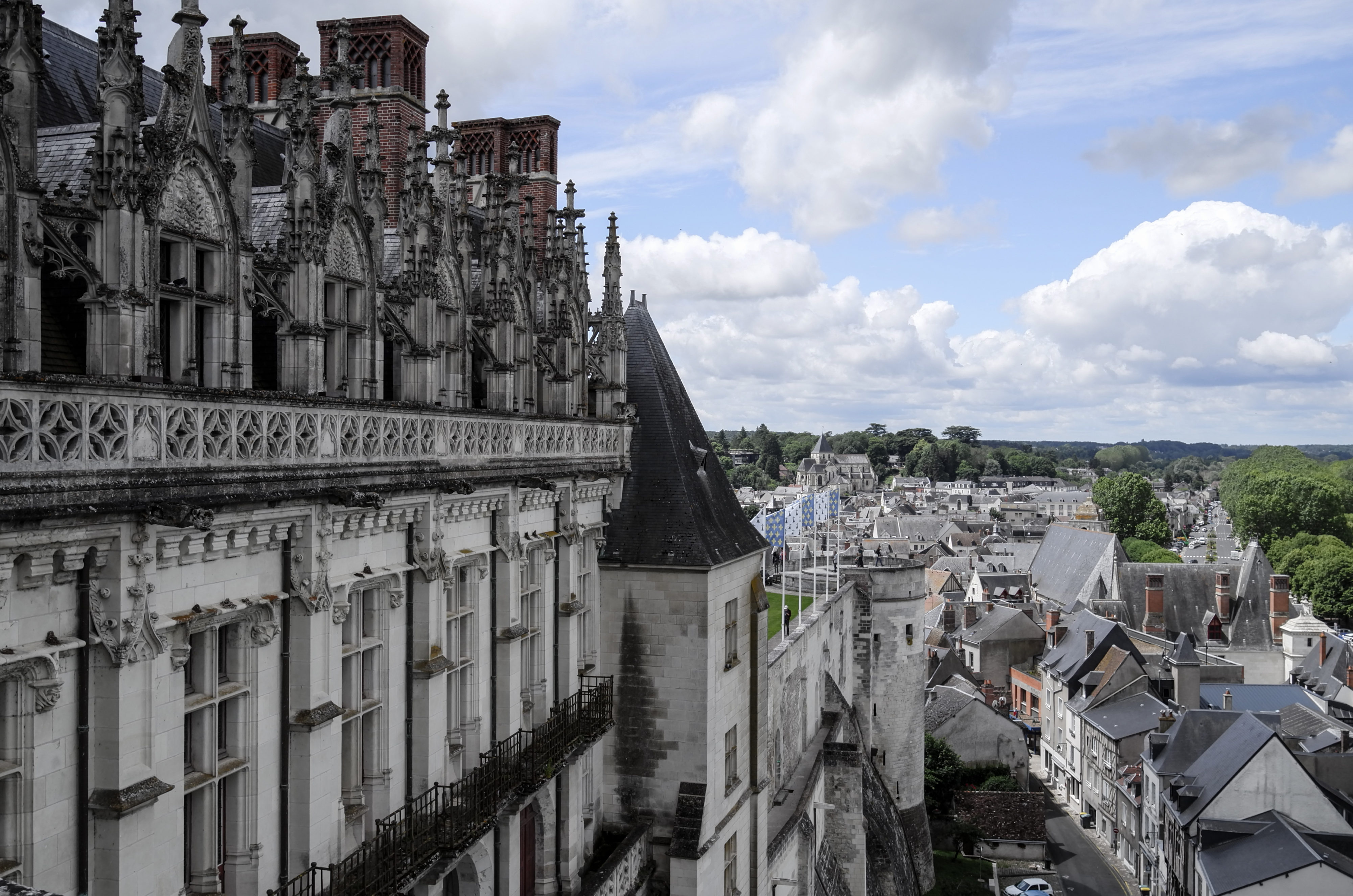 Amboise, Königssitz und letzter Lebensort von Leonardo Wohnflügel von Karl und Anne
