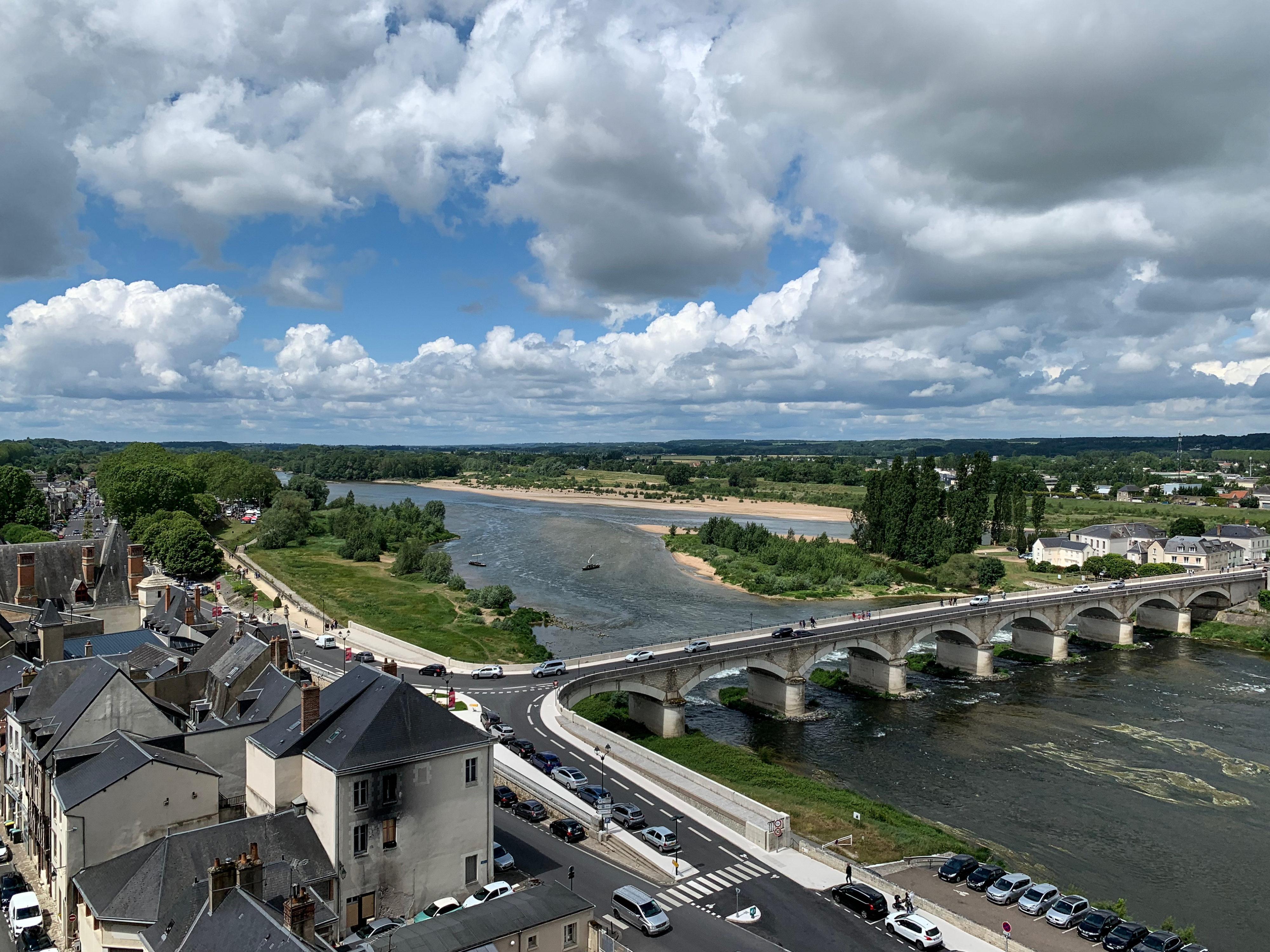Amboise Loirelandschaft vom Schlossplateau