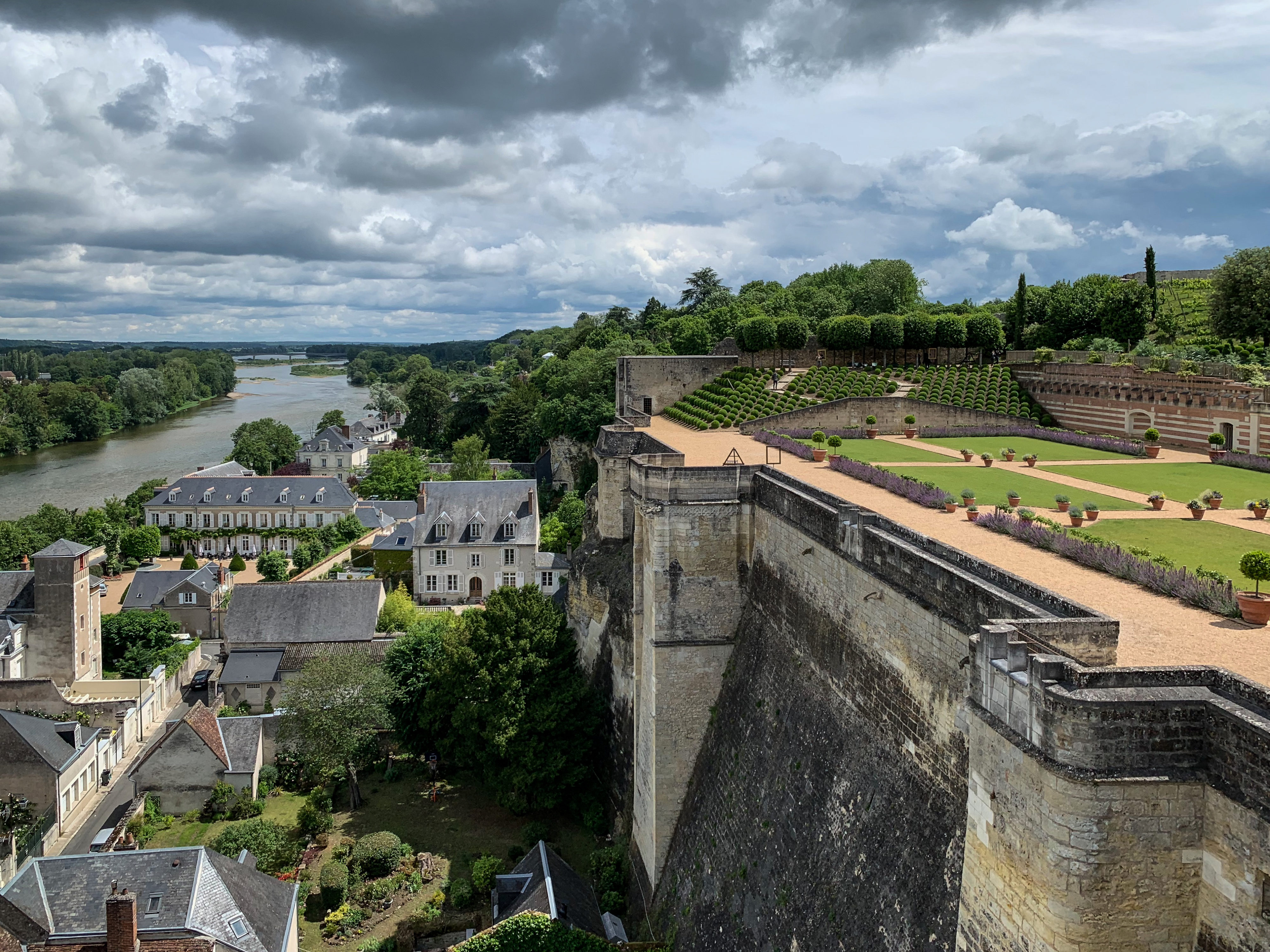 Amboise Blick vom Schloss flußaufwärts