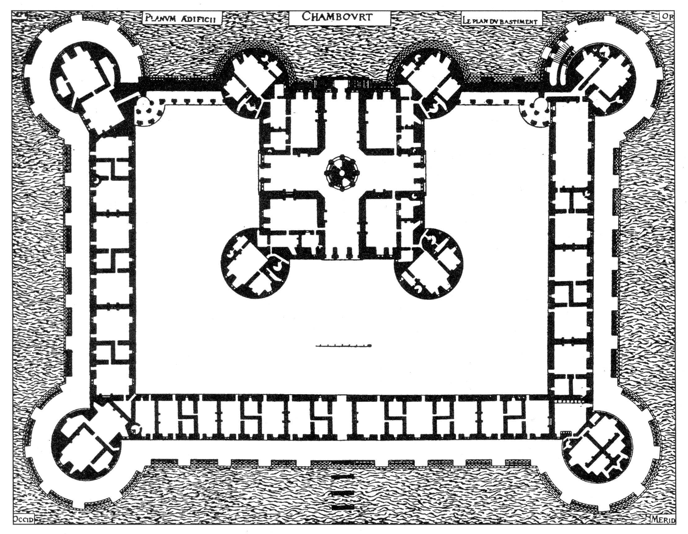 Grundriss von Chambord von Jaques Androhte du Cerceau