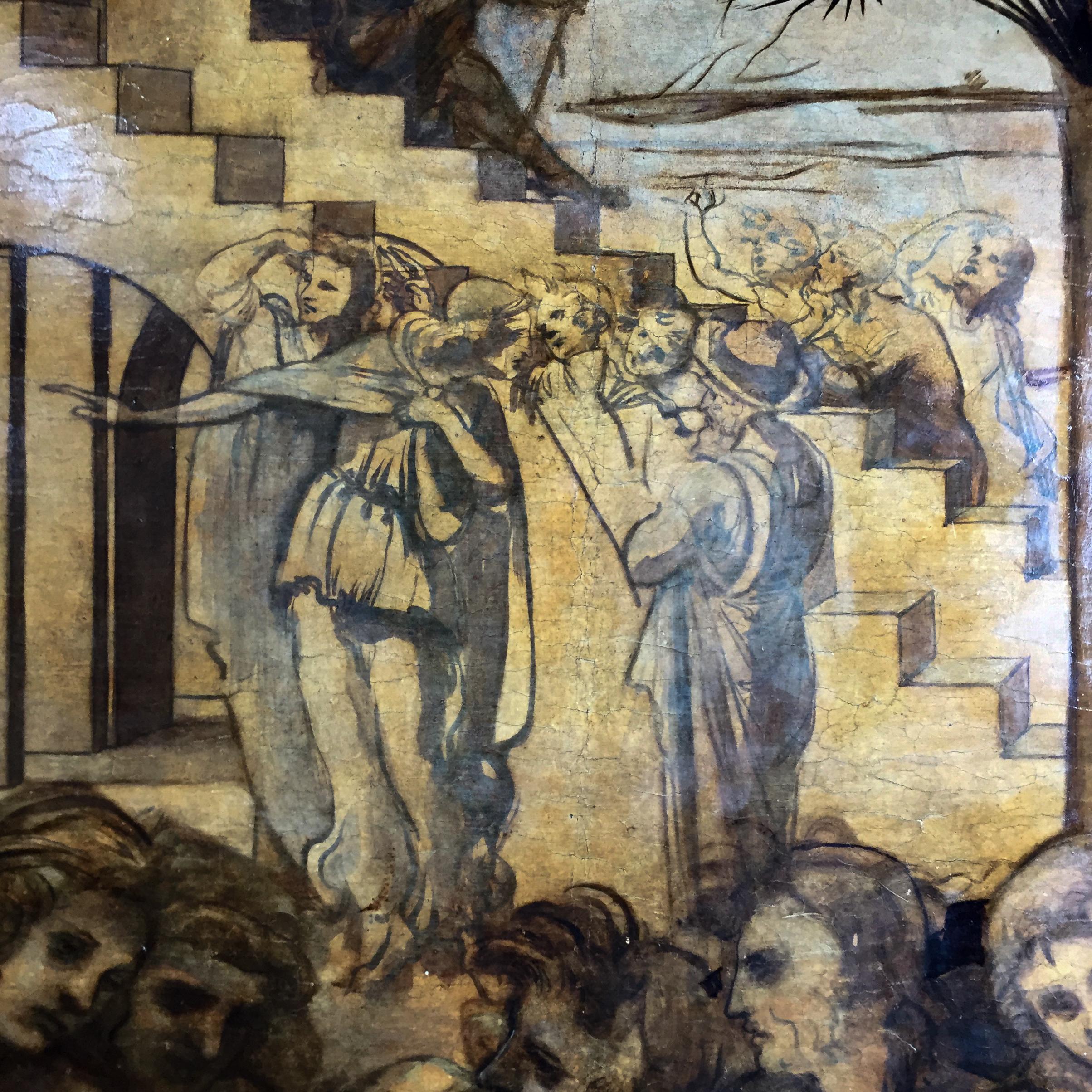Leonardo Anbetung Florenz 4