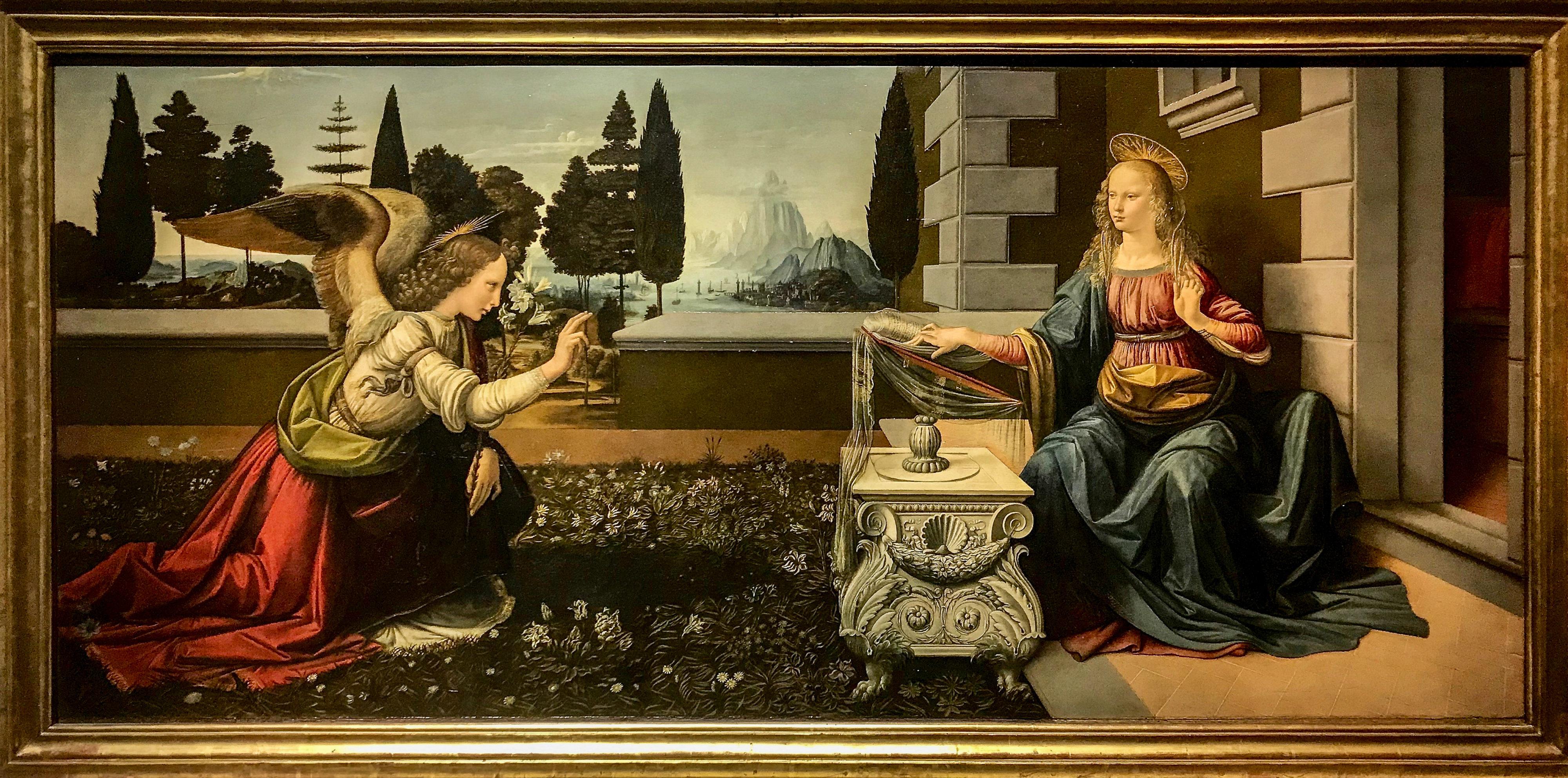 Leonardo Verkündigung Uffizien