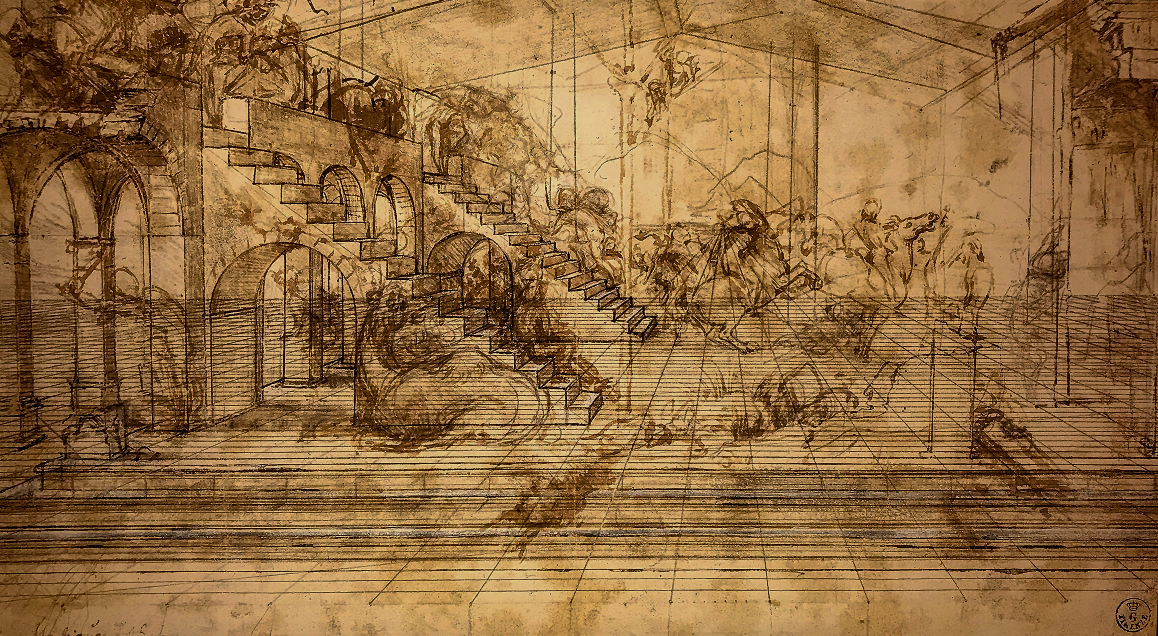 Leonardo da Vinci – Jahrhundertausstellung im Louvre Anbetung Florenz 1
