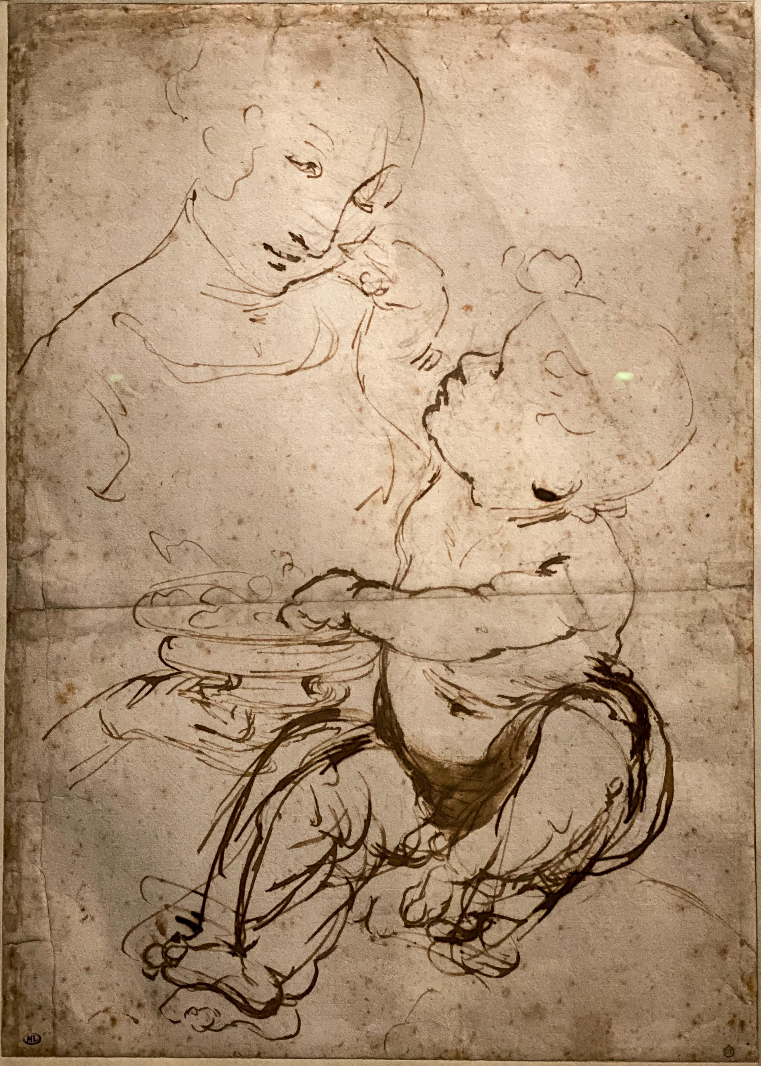 Leonardo da Vinci – Jahrhundertausstellung im Louvre Madonna mit Kind im Louvre