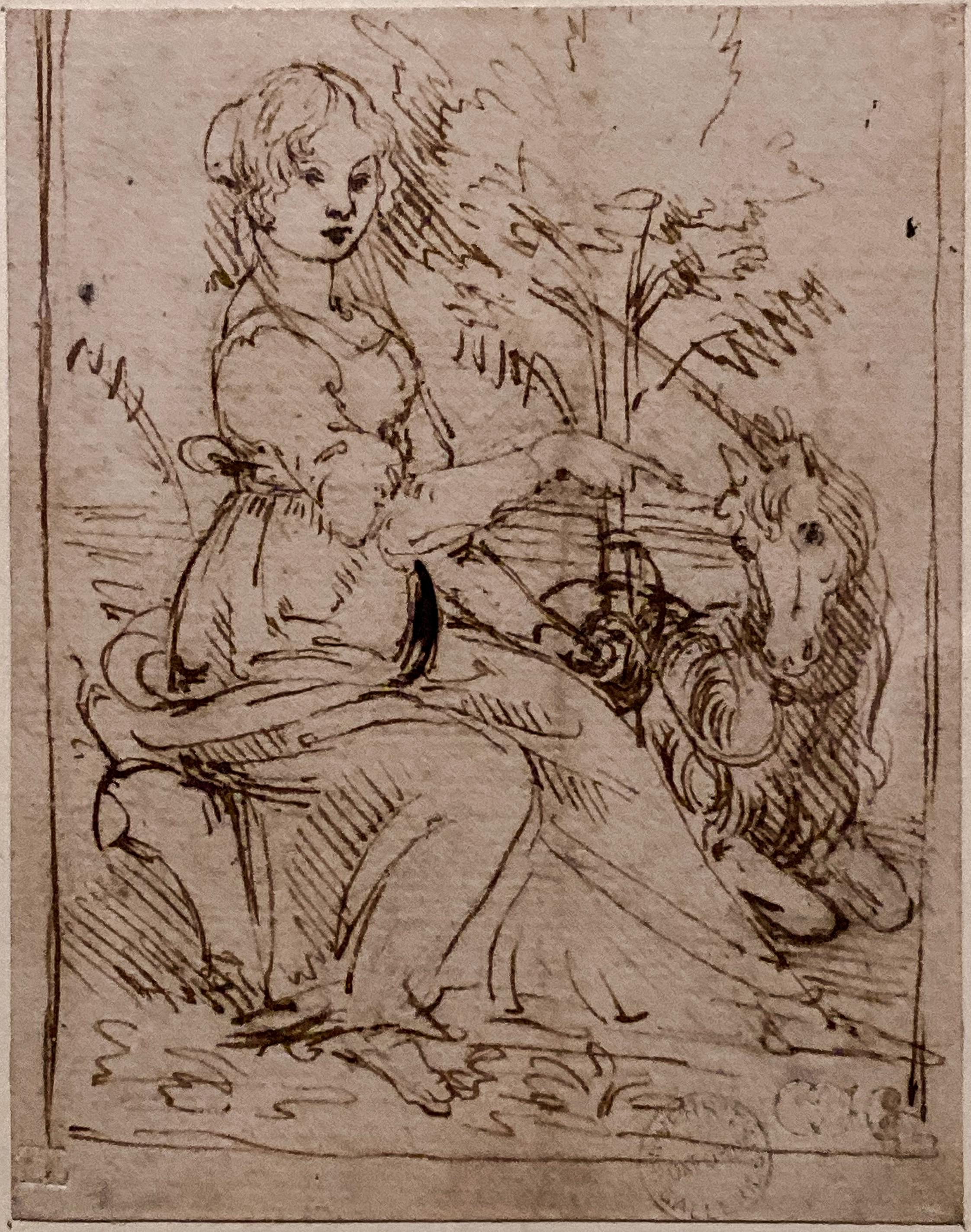 Leonardo da Vinci – Jahrhundertausstellung im Louvre Jungfrau mit Einhorn Oxford