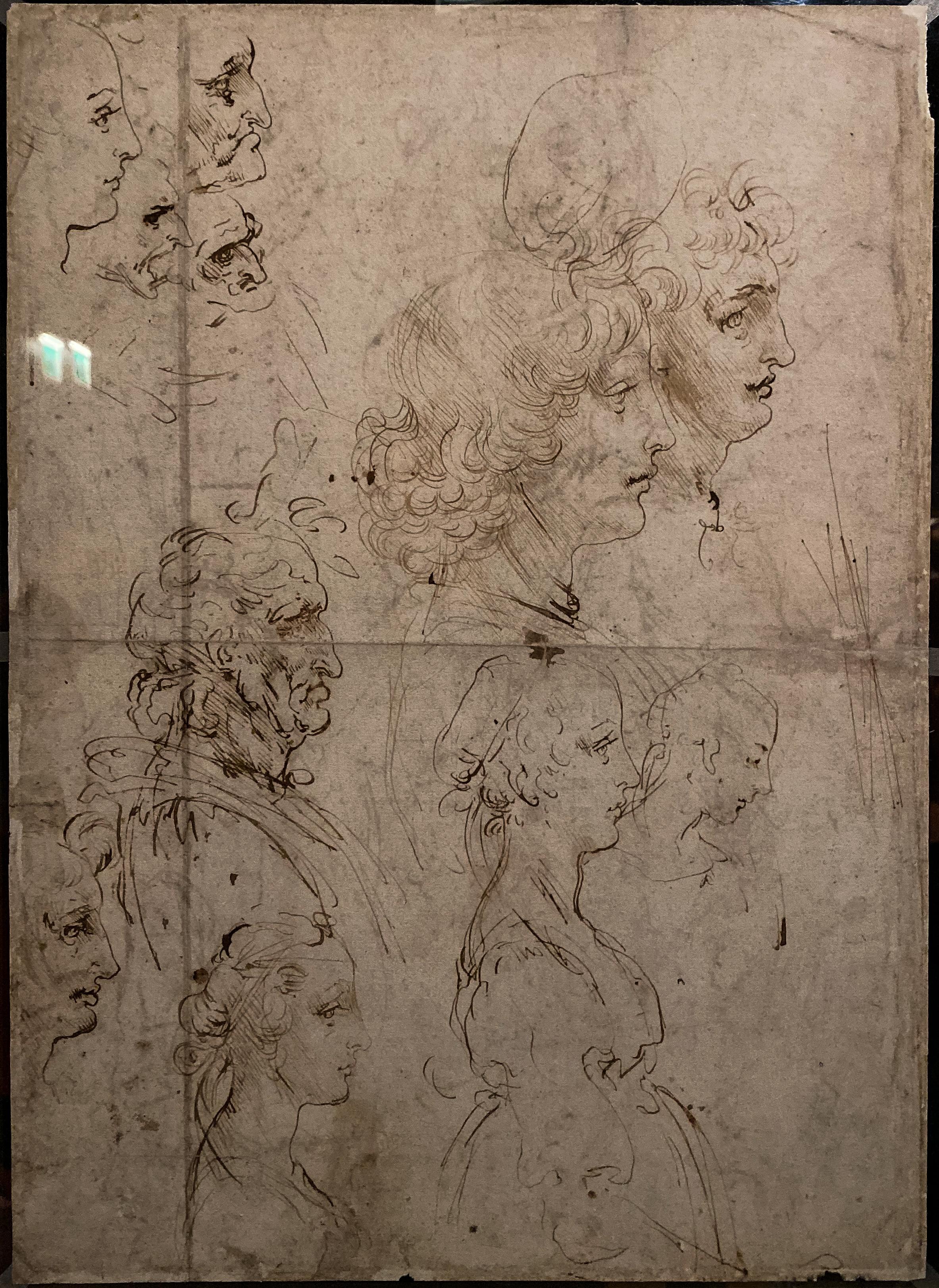 Leonardo da Vinci – Jahrhundertausstellung im Louvre Studienblatt Windsor Rückseite
