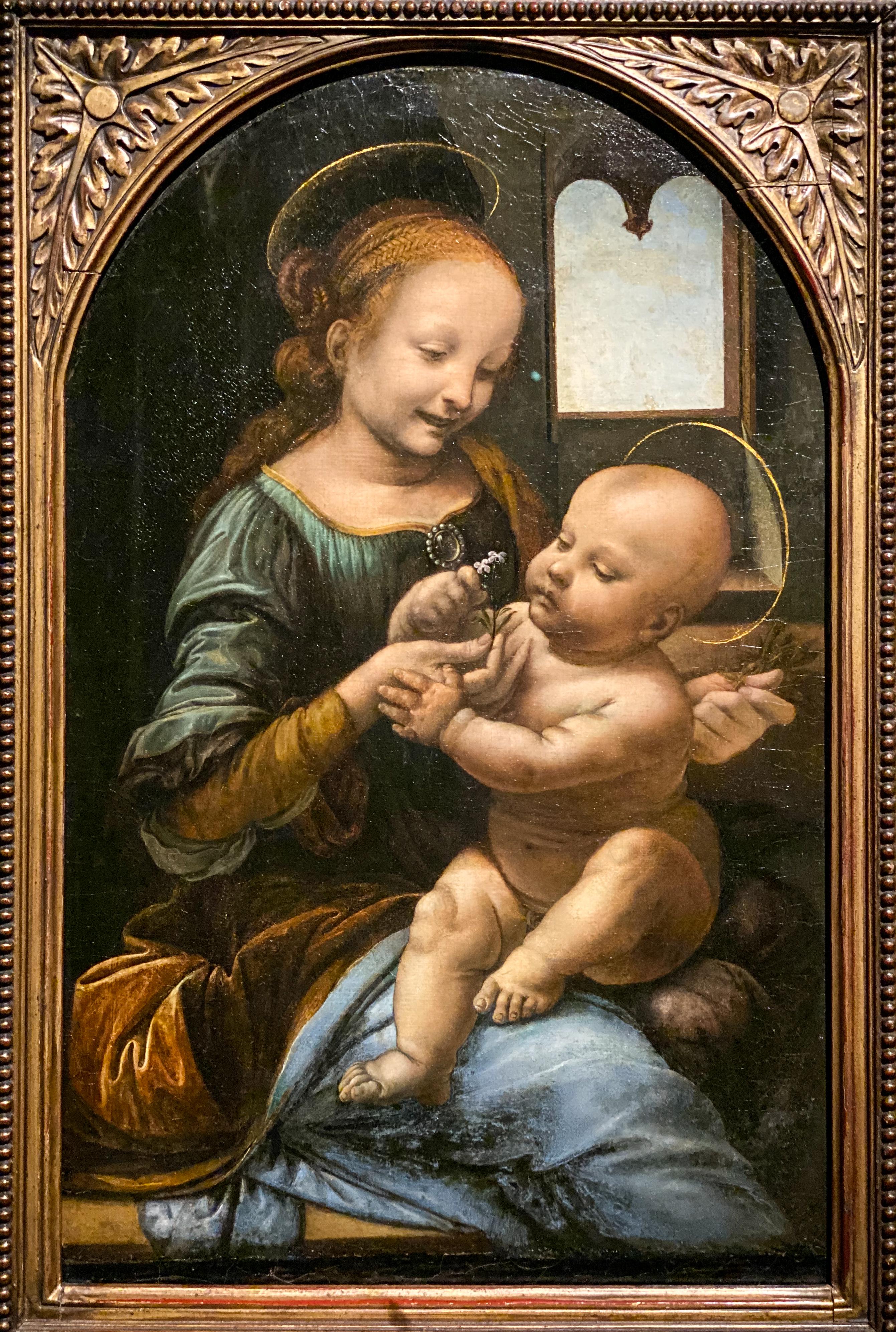 Leonardo da Vinci – Jahrhundertausstellung im Louvre Madonna Benois St. Petersburg