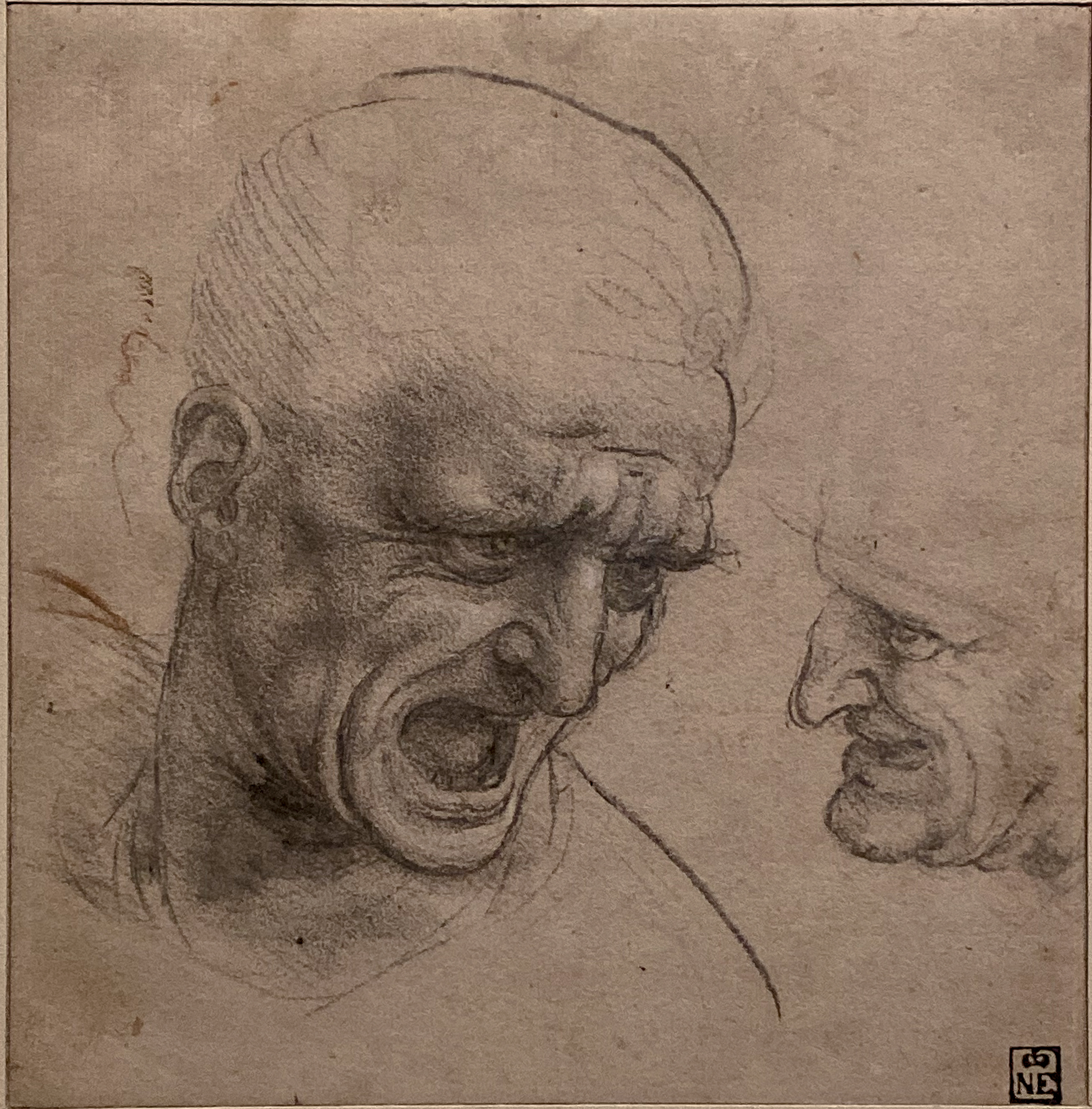 Leonardo da Vinci – Jahrhundertausstellung im Louvre Kopfstudie Anghiari-Schlacht