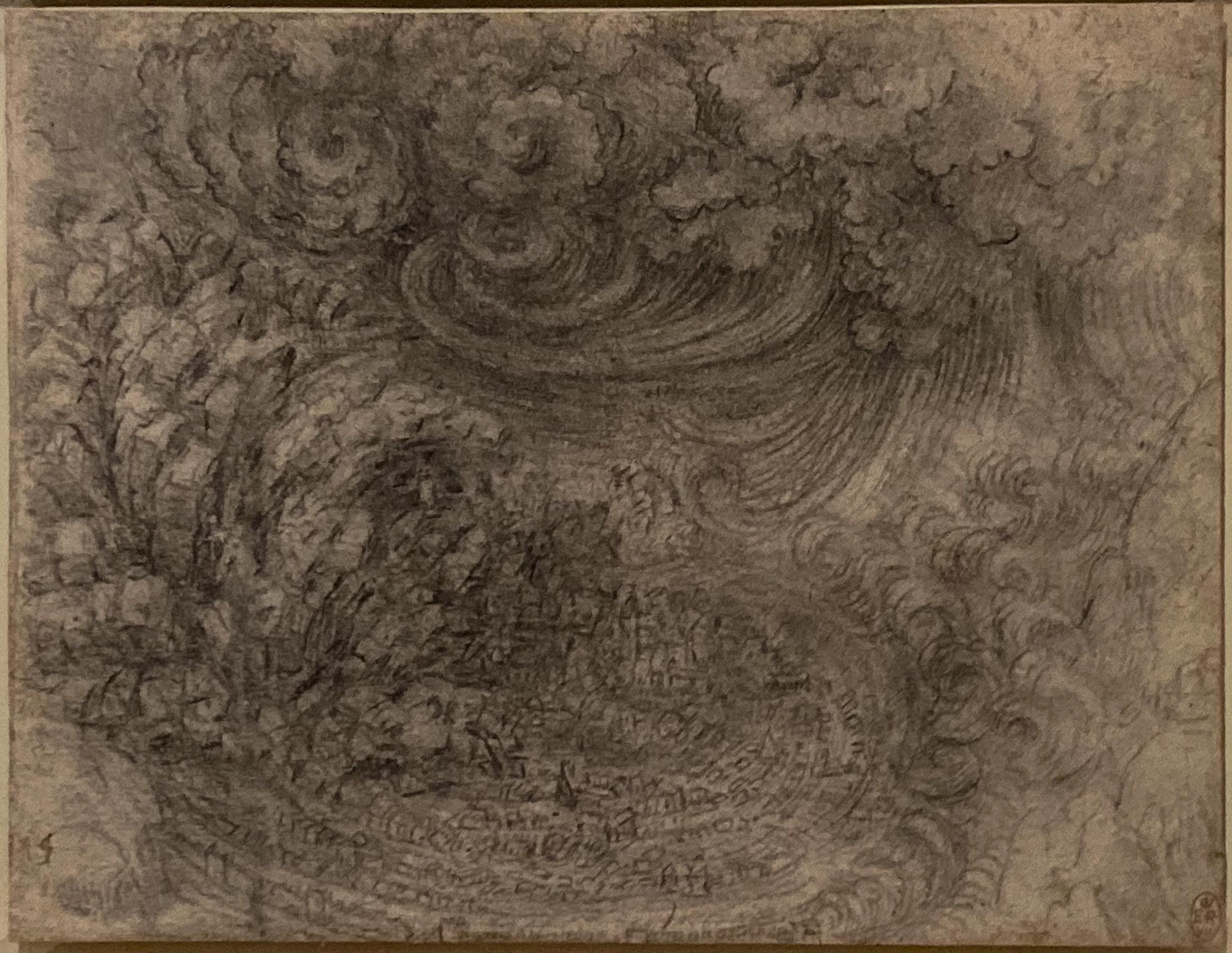 Leonardo da Vinci – Jahrhundertausstellung im Louvre Sintflut Windsor