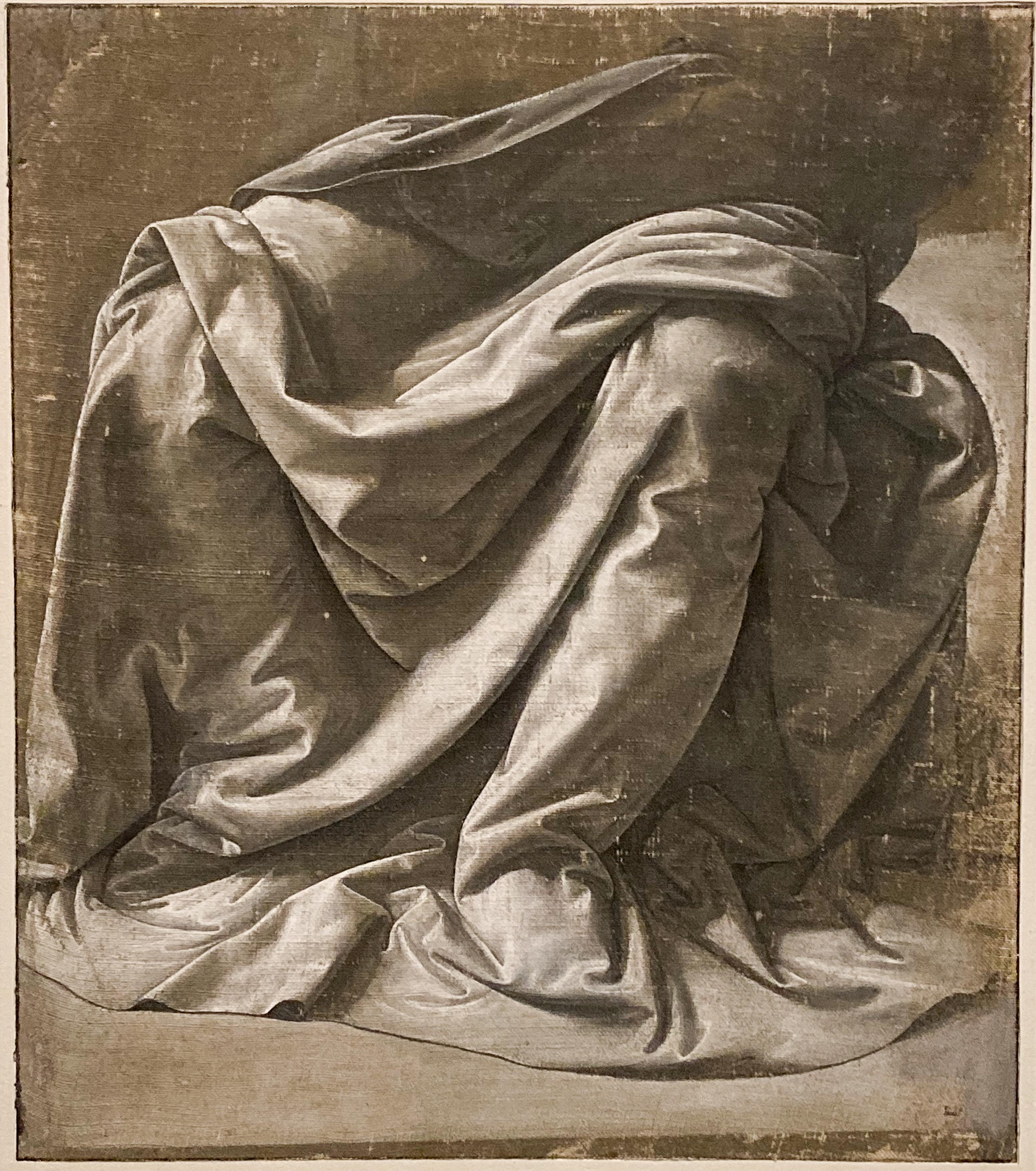 Leonardo da Vinci – Jahrhundertausstellung im Louvre Gewandstudie Louvre