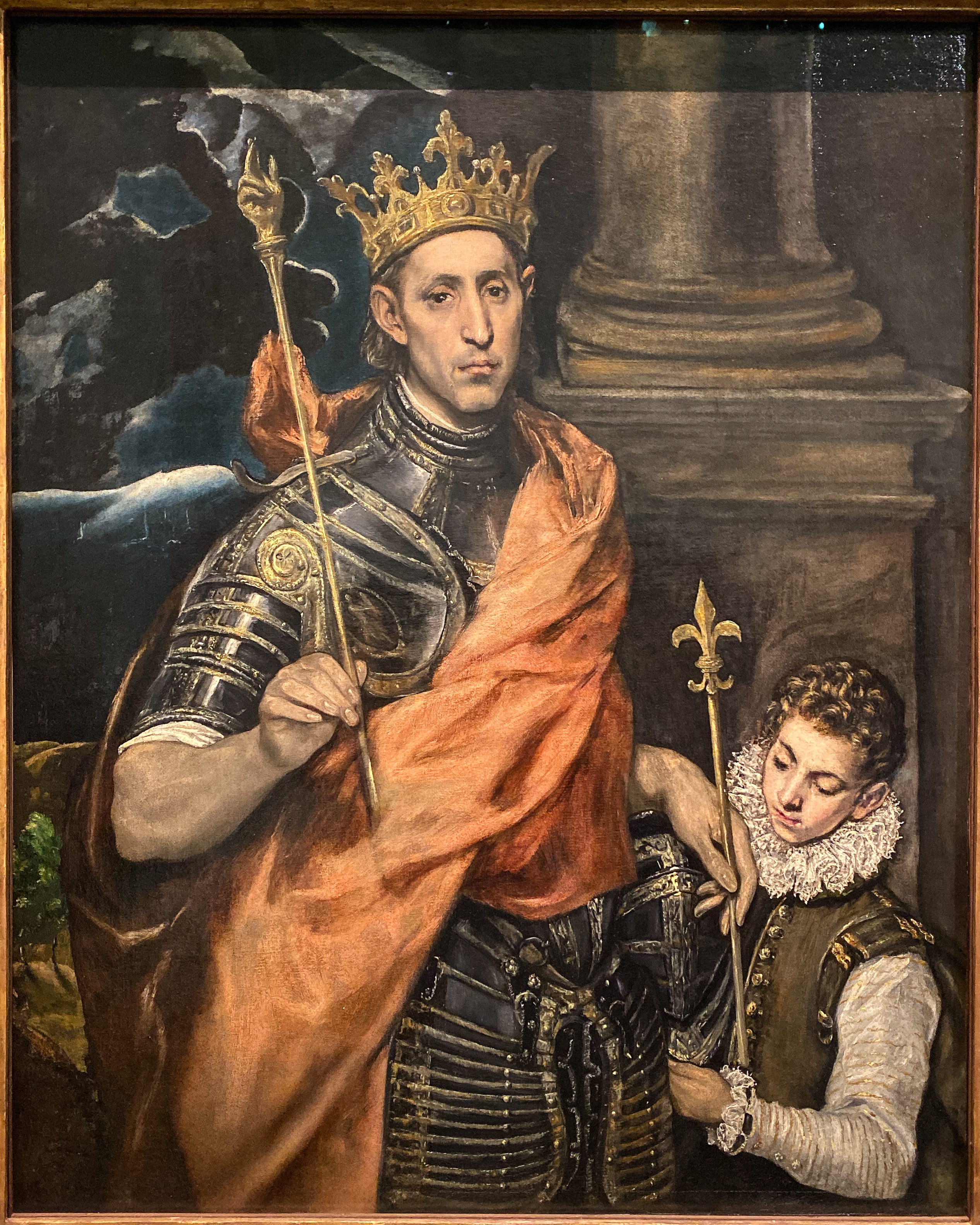 El Greco Saint Louis und Page Louvre