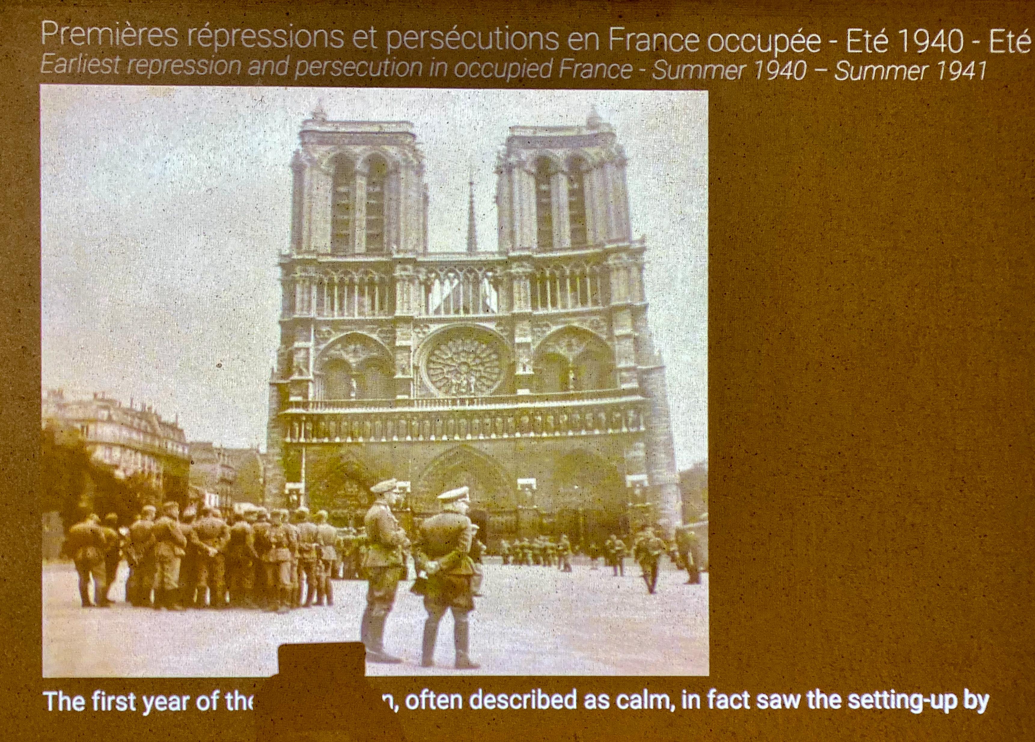 Nachtrag zu Notre-Dame im Koma – Gedenkstätte Drittes Reich