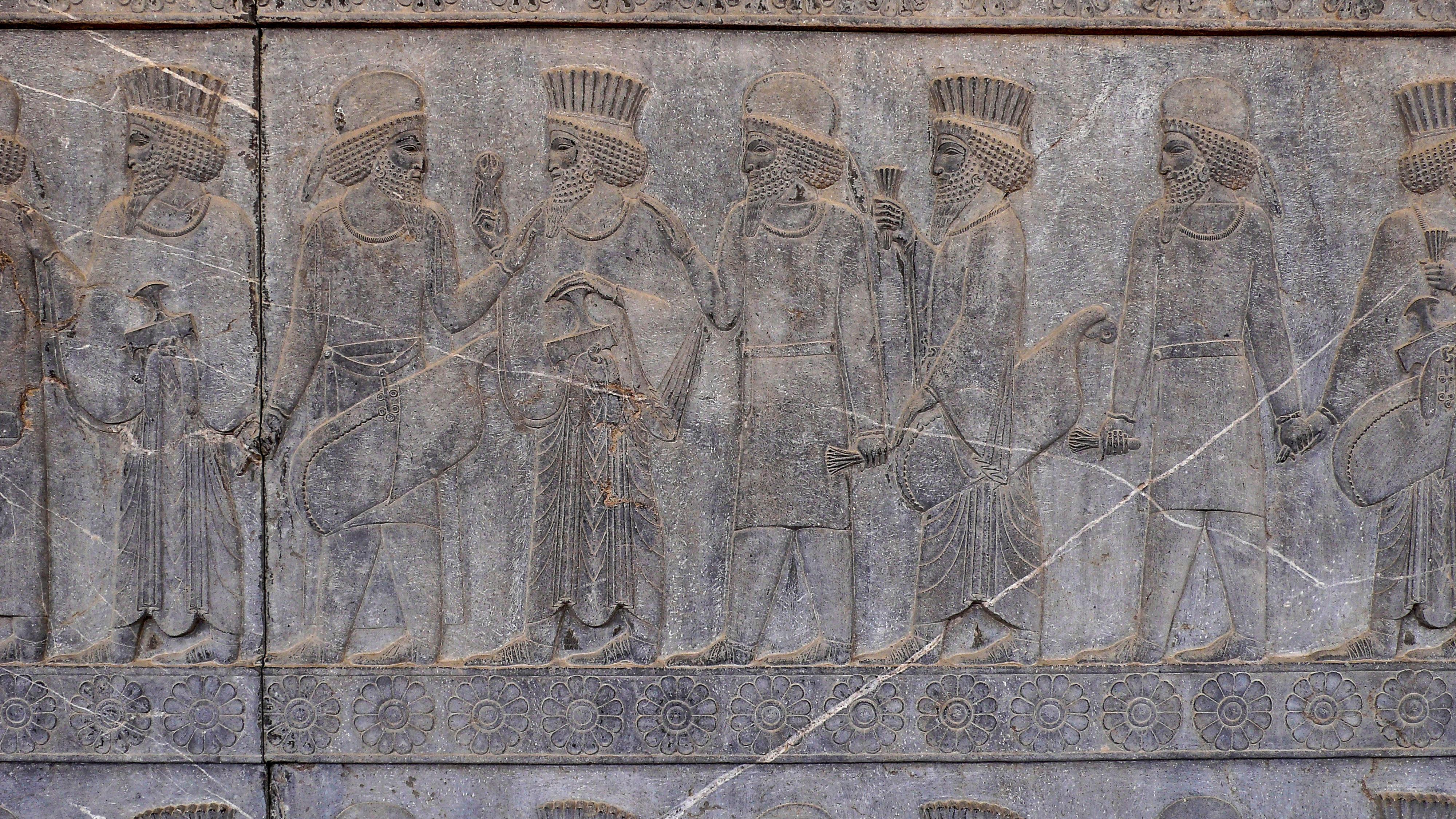 Persepolis Apadana-Halle Huldigende Völkerschar