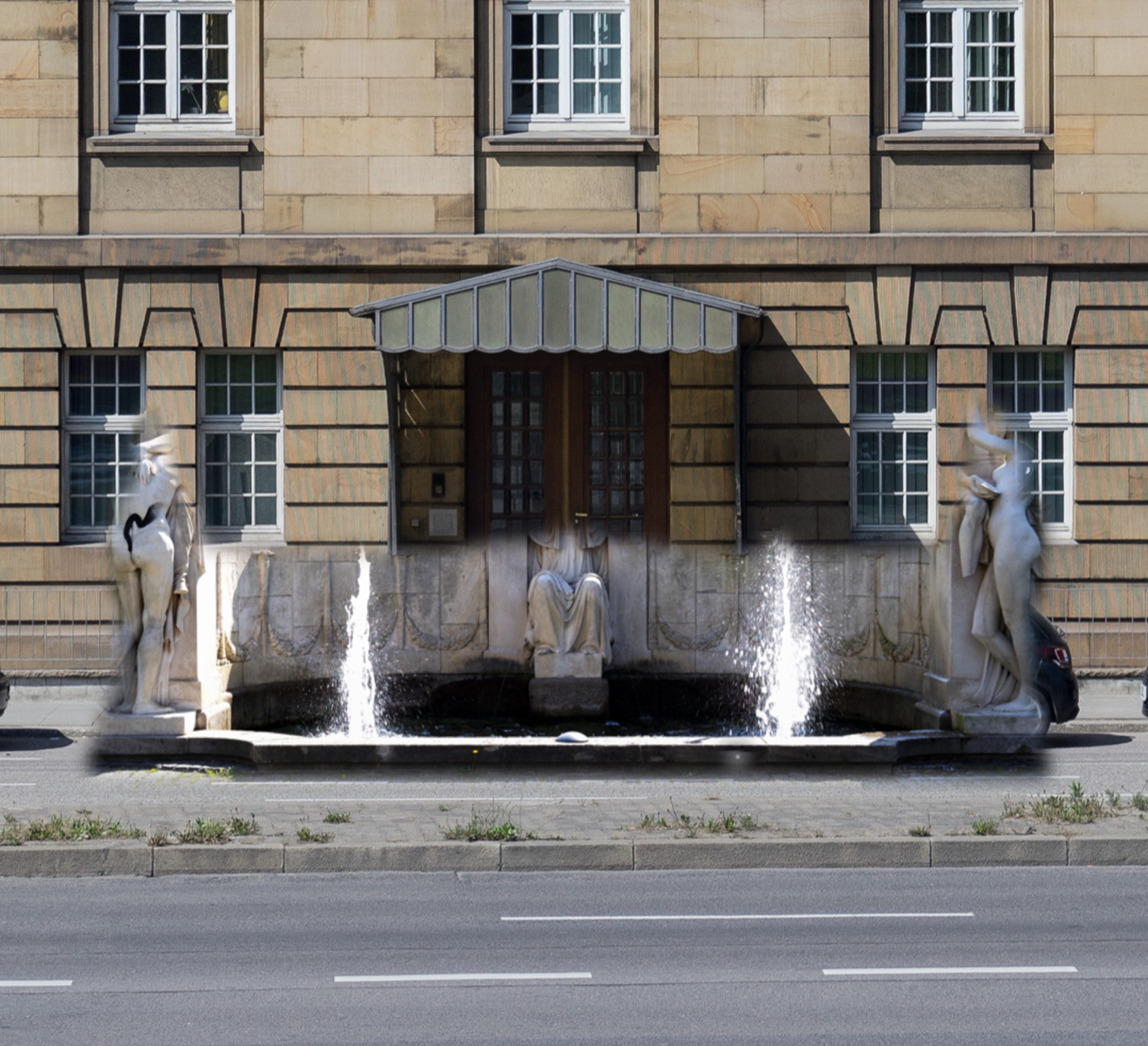 Rückkehr von Donndorf Schicksalsbrunnen an die B14