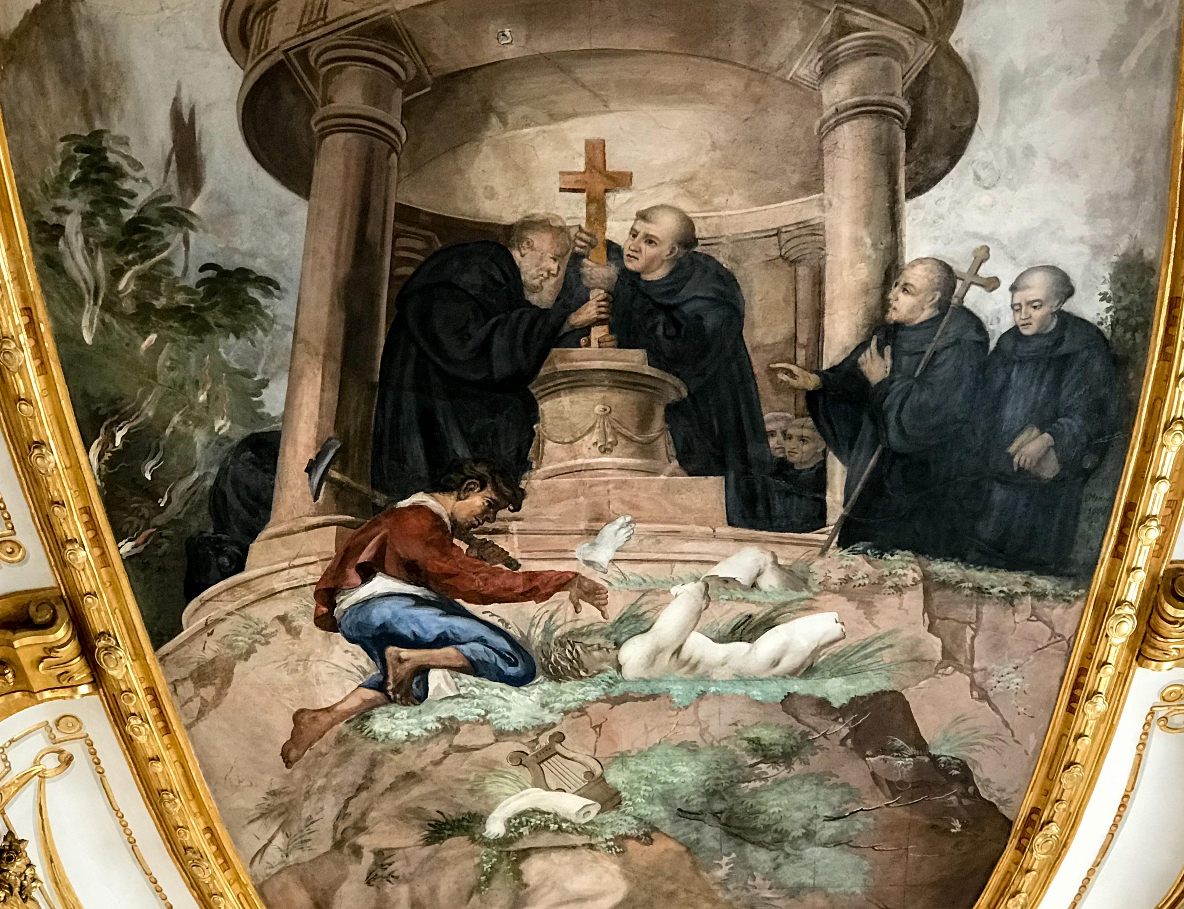 Zerstörung von Denkmalen Oberelchingen Klosterkirche