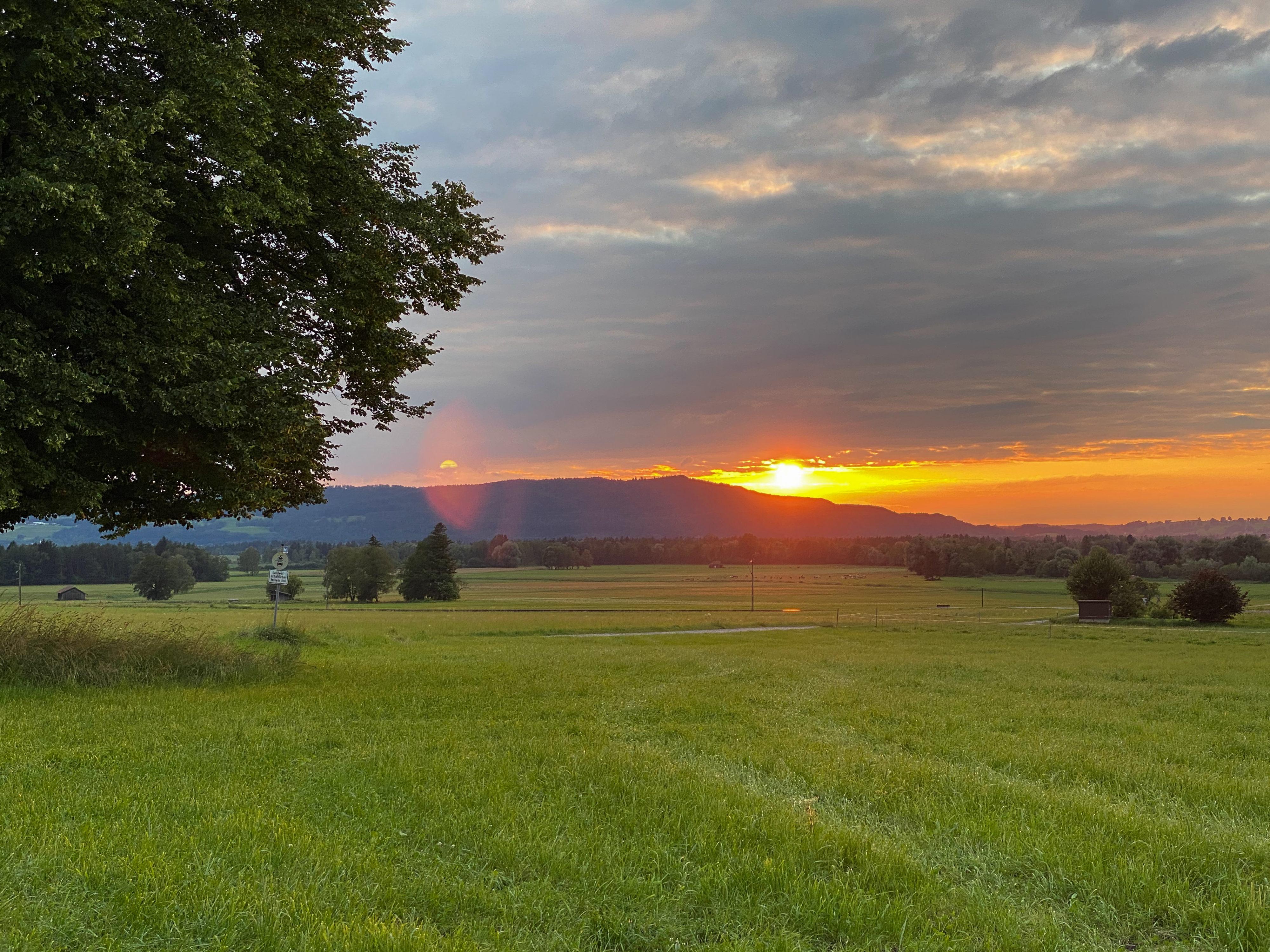 Wiedersehen im Blauen Land Sonnenuntergang