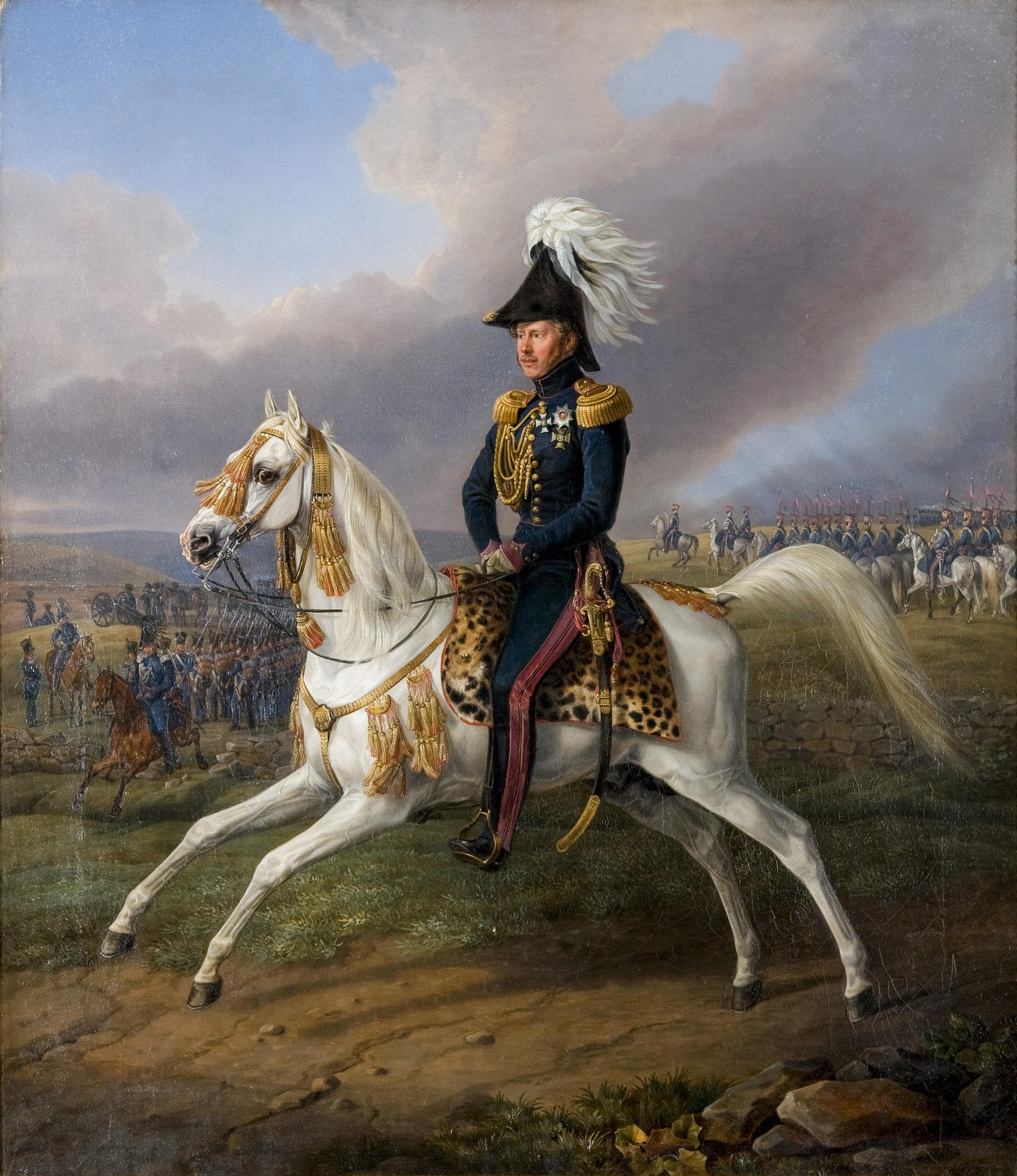 Bairactar ist der Stammvater des Kgl. Privatgestüts mit König Wilhelm Albrecht Adam