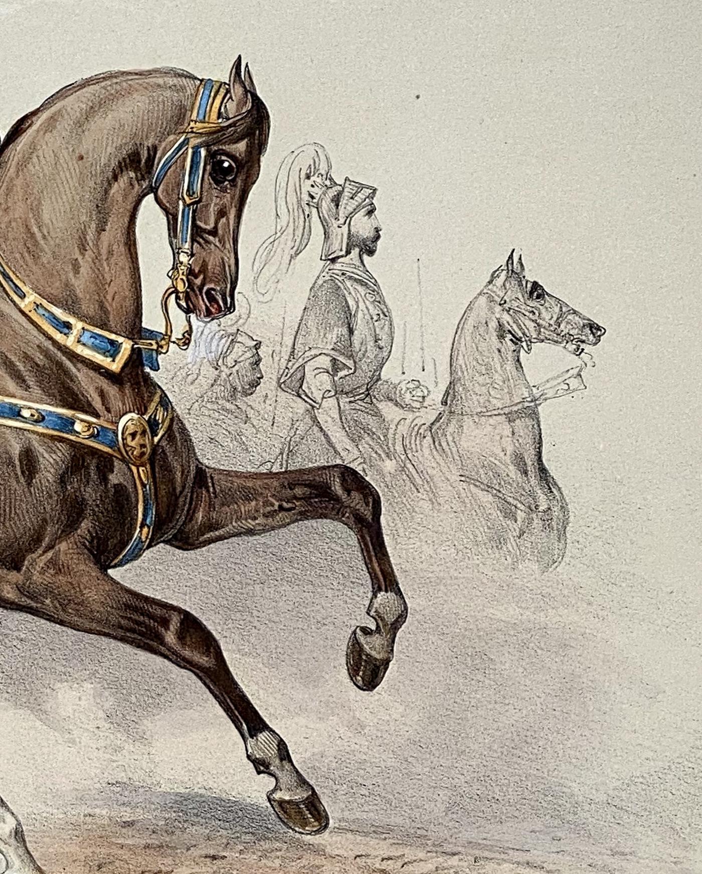 Reiterspiel/Caroussel 1846: Gefolge und Hackländer – Gefolge Henkel von Donnersmarck-Maucler