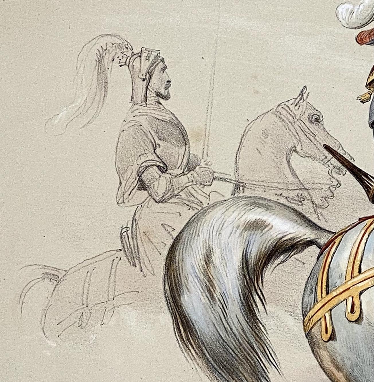 Reiterspiel/Caroussel 1846: Gefolge und Hackländer – ein weiterer Gefolgsmann