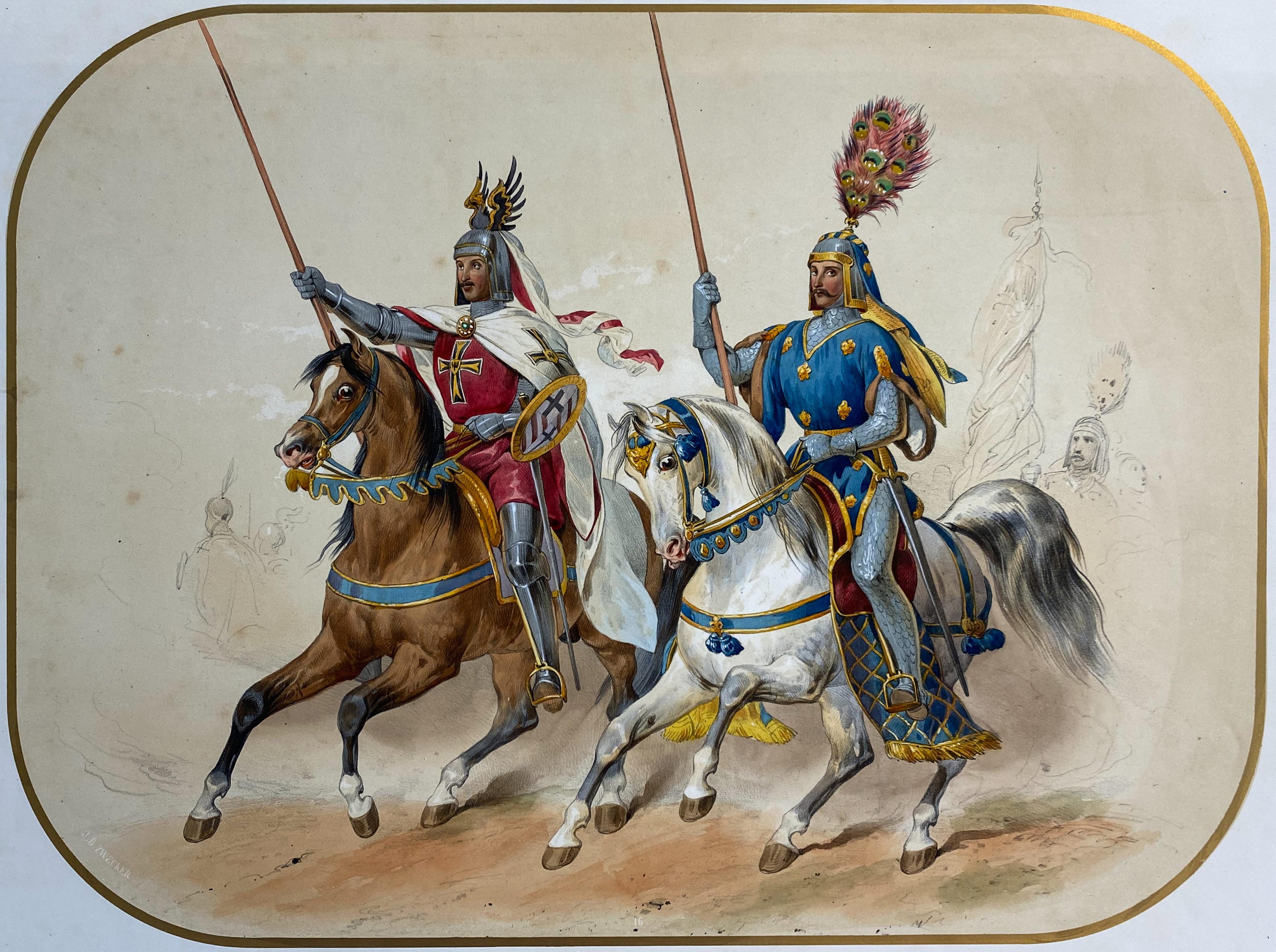Reiterfest/Caroussel: Einzug weiterer Ritter – Ellrichshausen und Valois