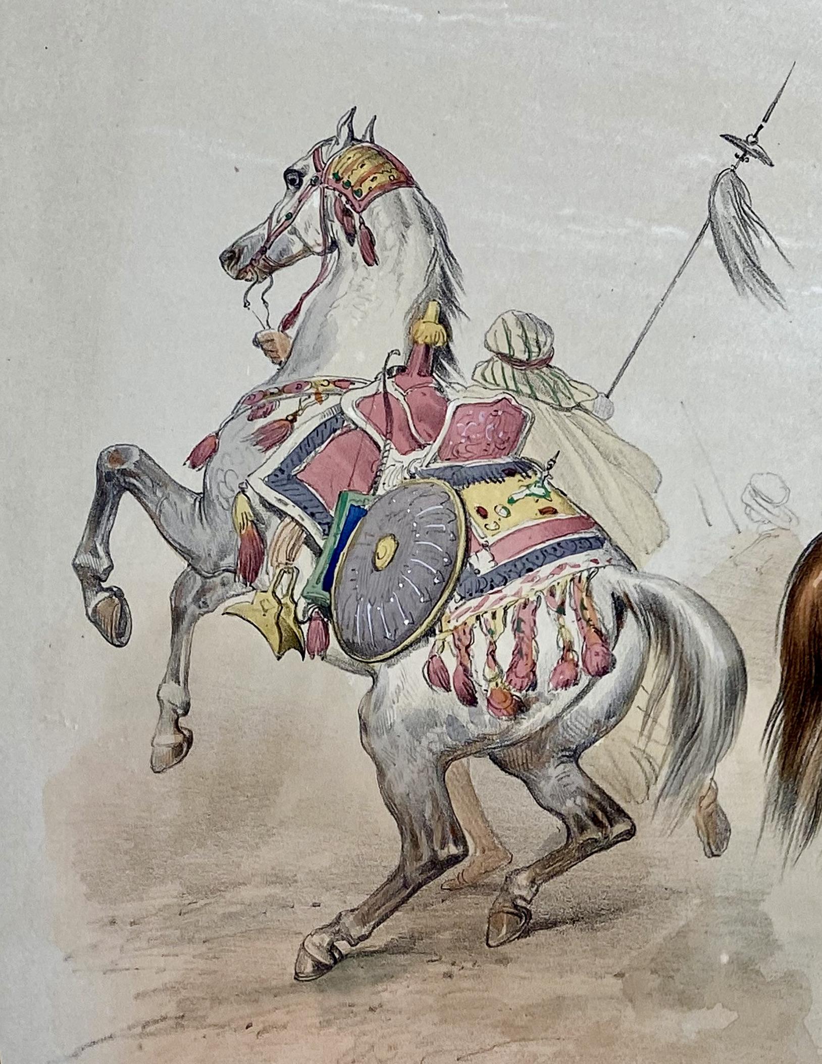 Steigender Araber mit Beduine
