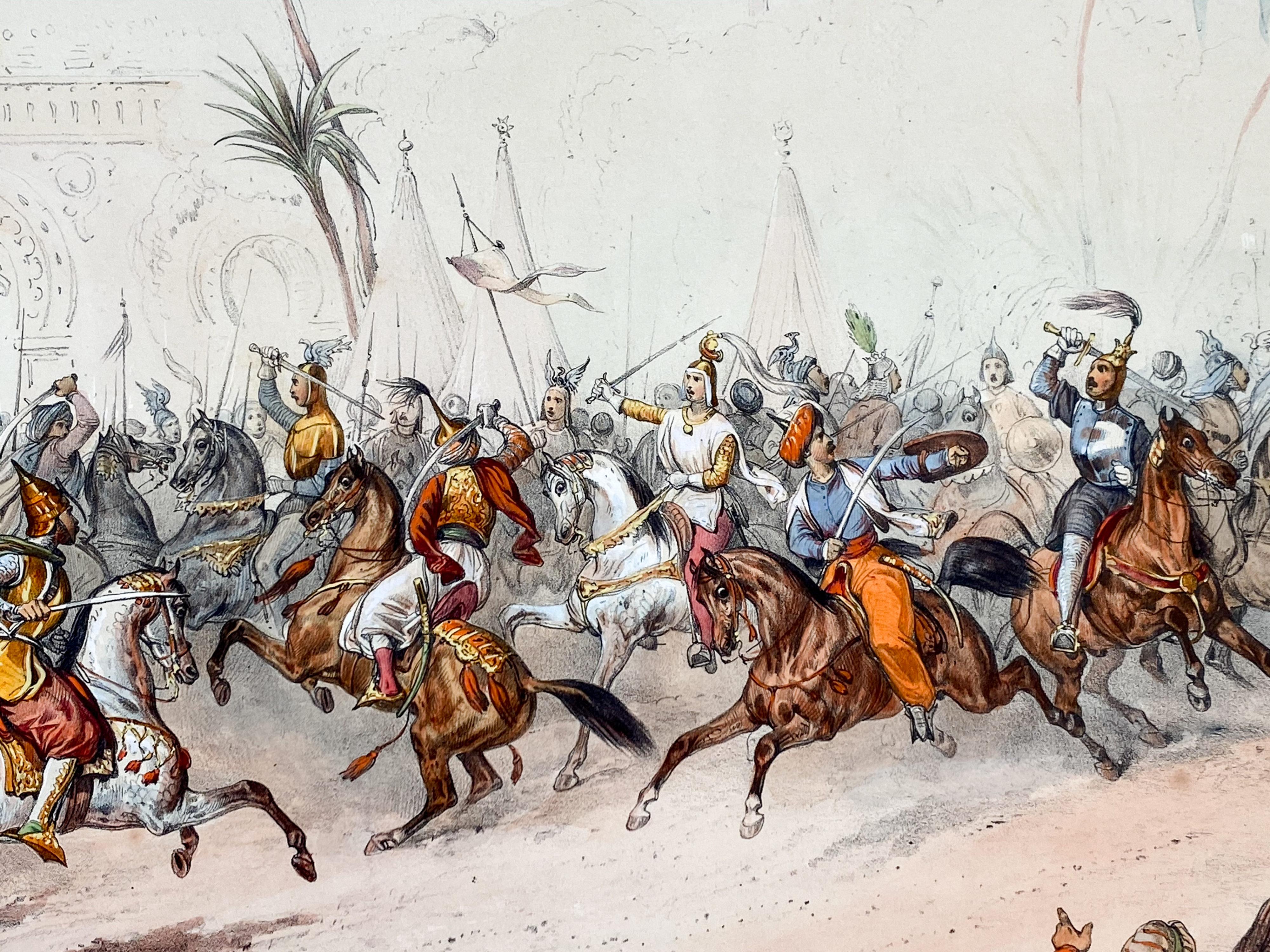 Reiterspiel/Caroussel 1846: Kampfspiele gegen Schluss – Getümmel um Kronprinz Karl