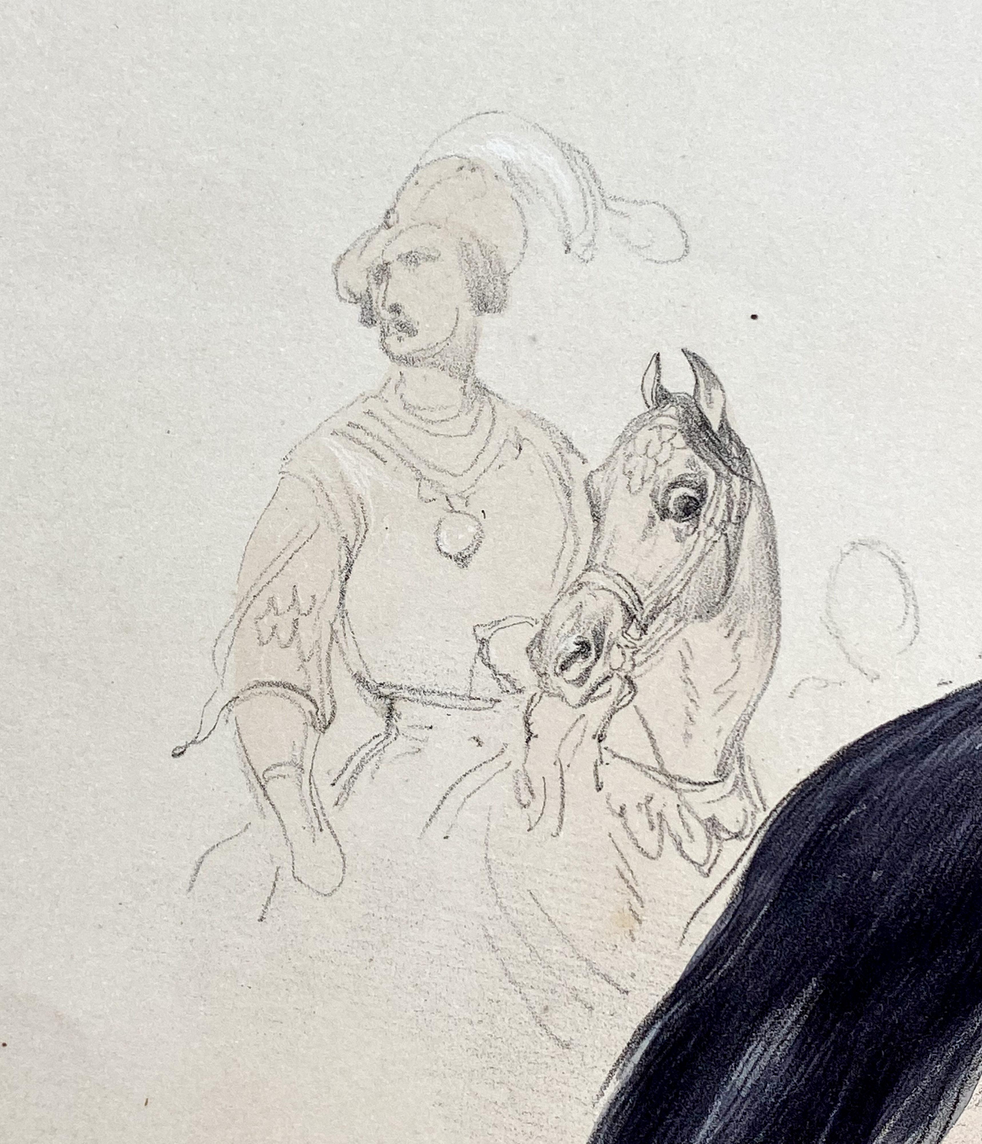 Reiterspiel/Caroussel 1846: Gefolge und Hackländer – Gefolgsmann Kronprinz Karl