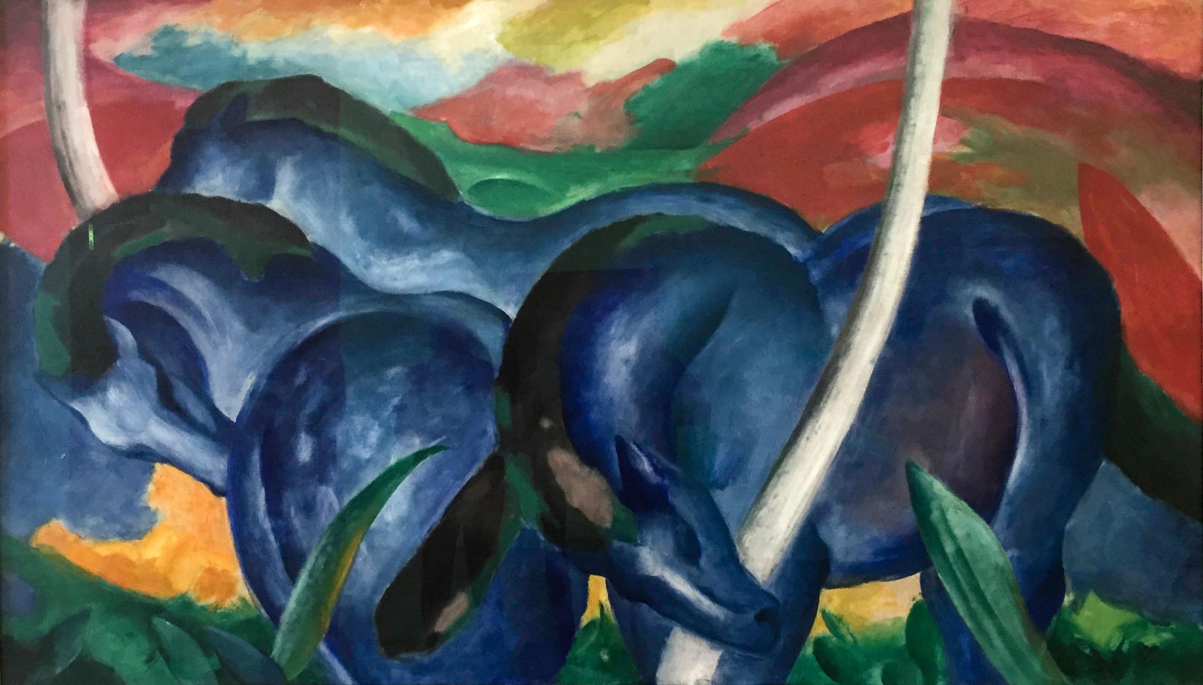 Franz Marc Große blaue Pferde Walker Art Center Minneapolis