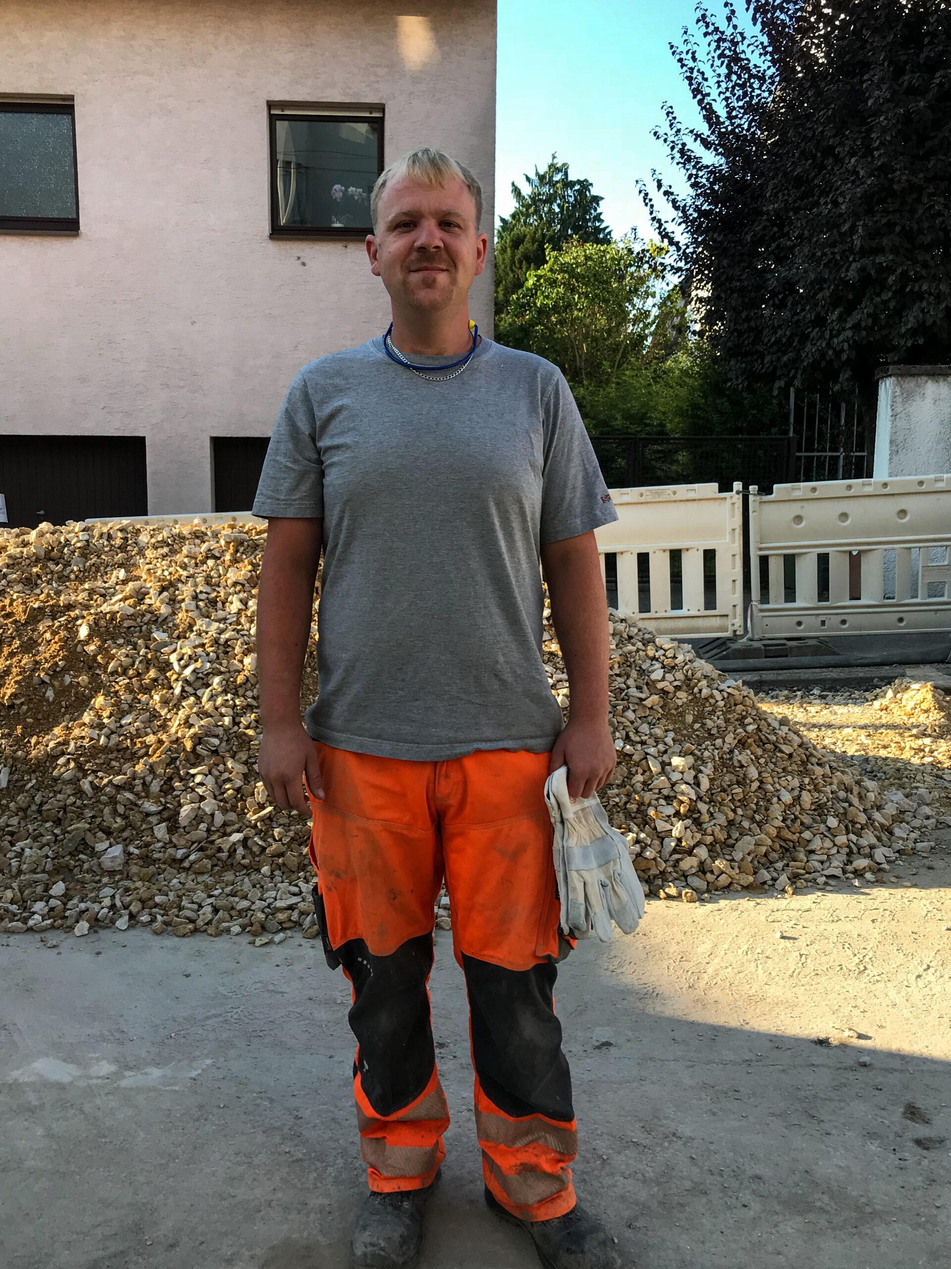 Andreas Denzinger, Straßenbauarbeiter