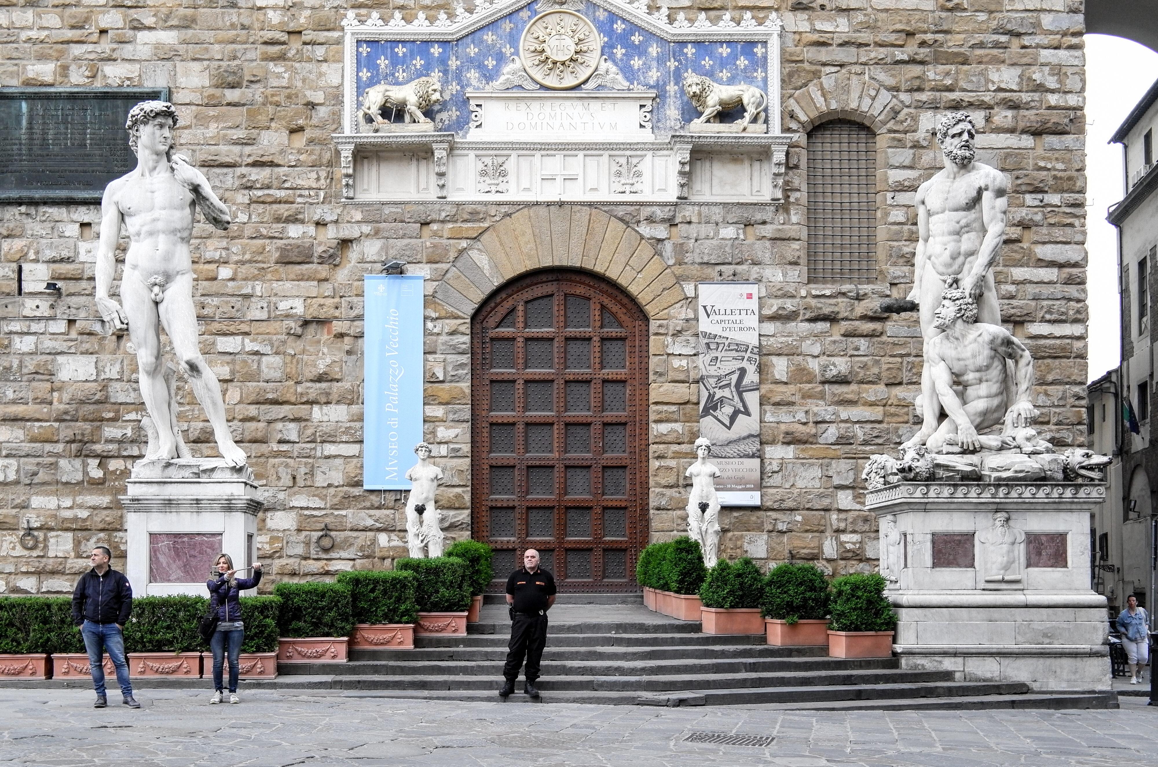 Piazza Signoria und Michelangelos David