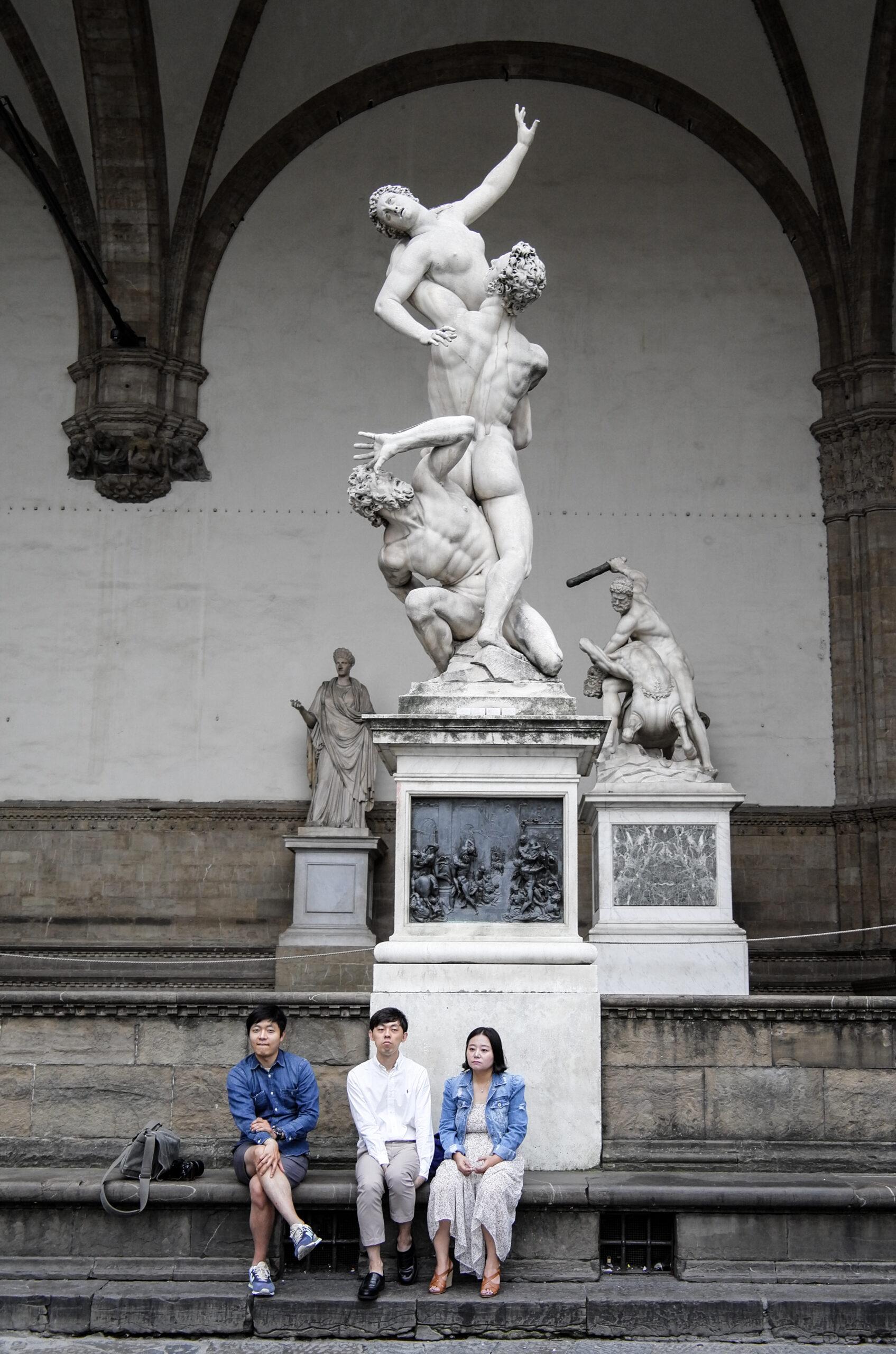 Florenz – Michelangelo und Giambologna Raub der Sabinerin